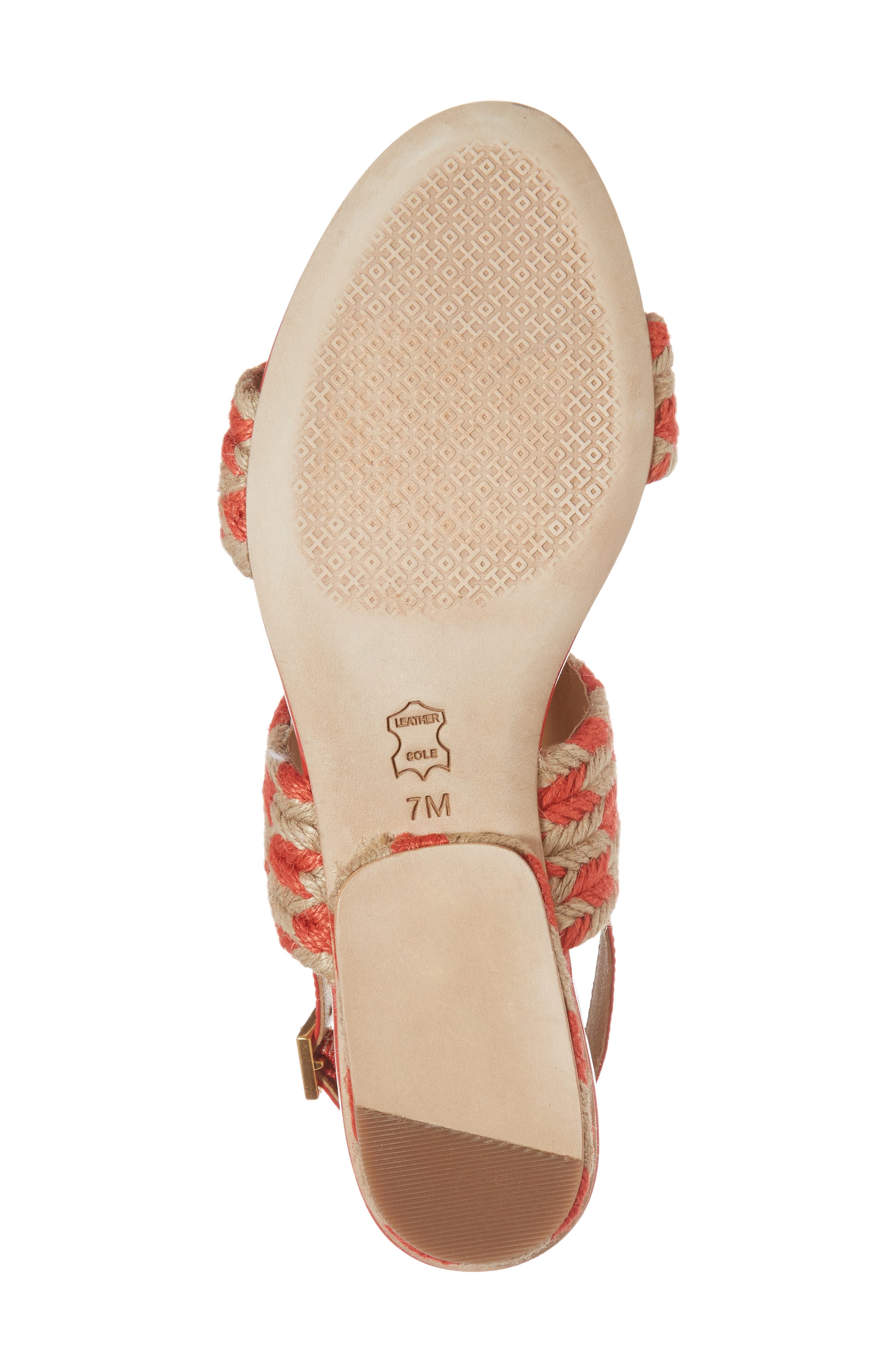 Lola Slingback Sandal,                             Alternate thumbnail 6, color,                             Poppy Orange/ Perfect Ivory