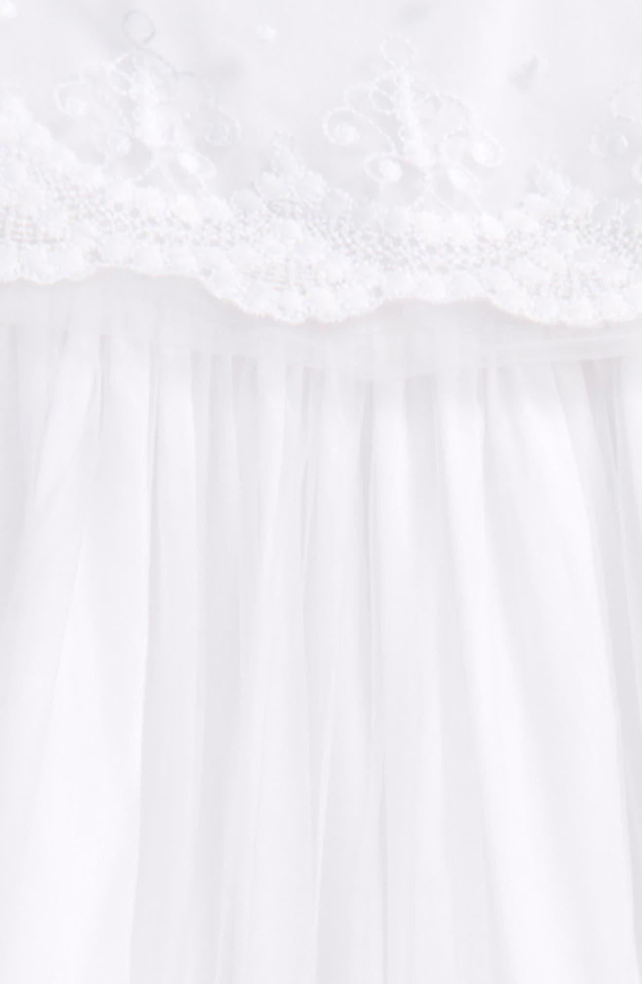 Blessing Christening Gown & Bonnet Set,                             Alternate thumbnail 2, color,                             White
