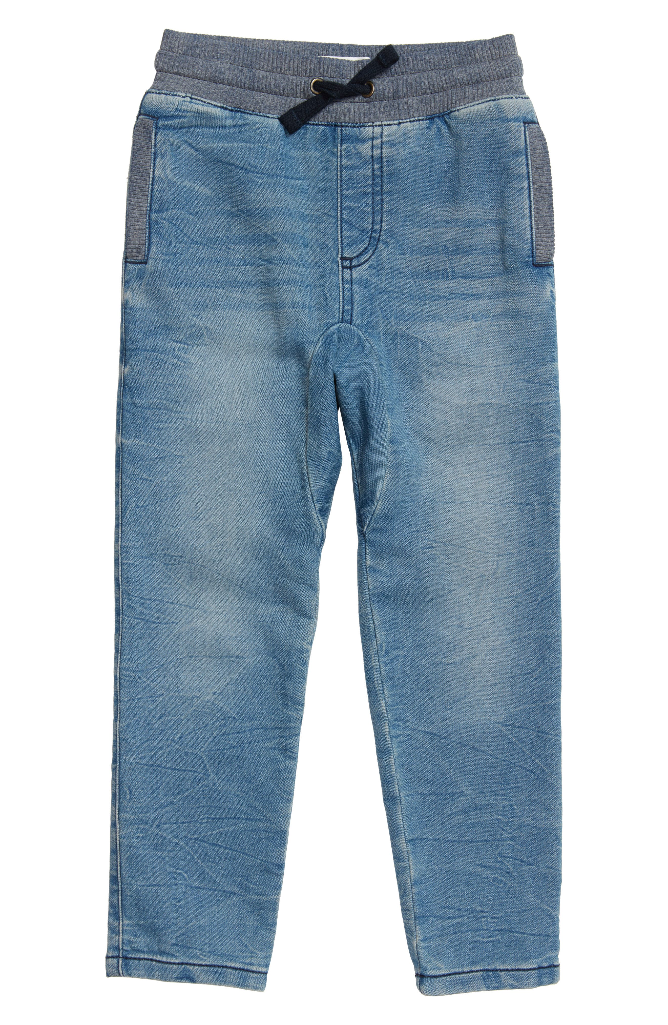 Denim Sweatpants,                         Main,                         color, Electric Wash