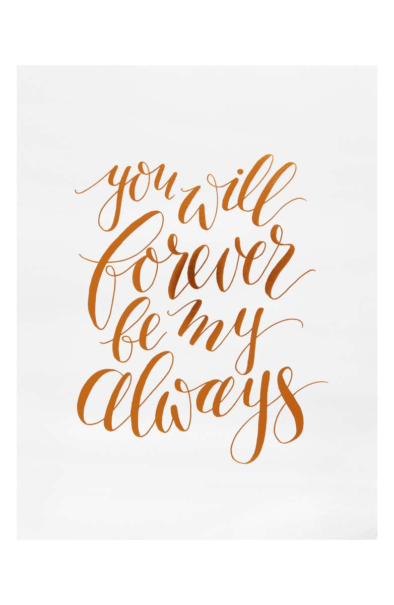 Forever and Always art print