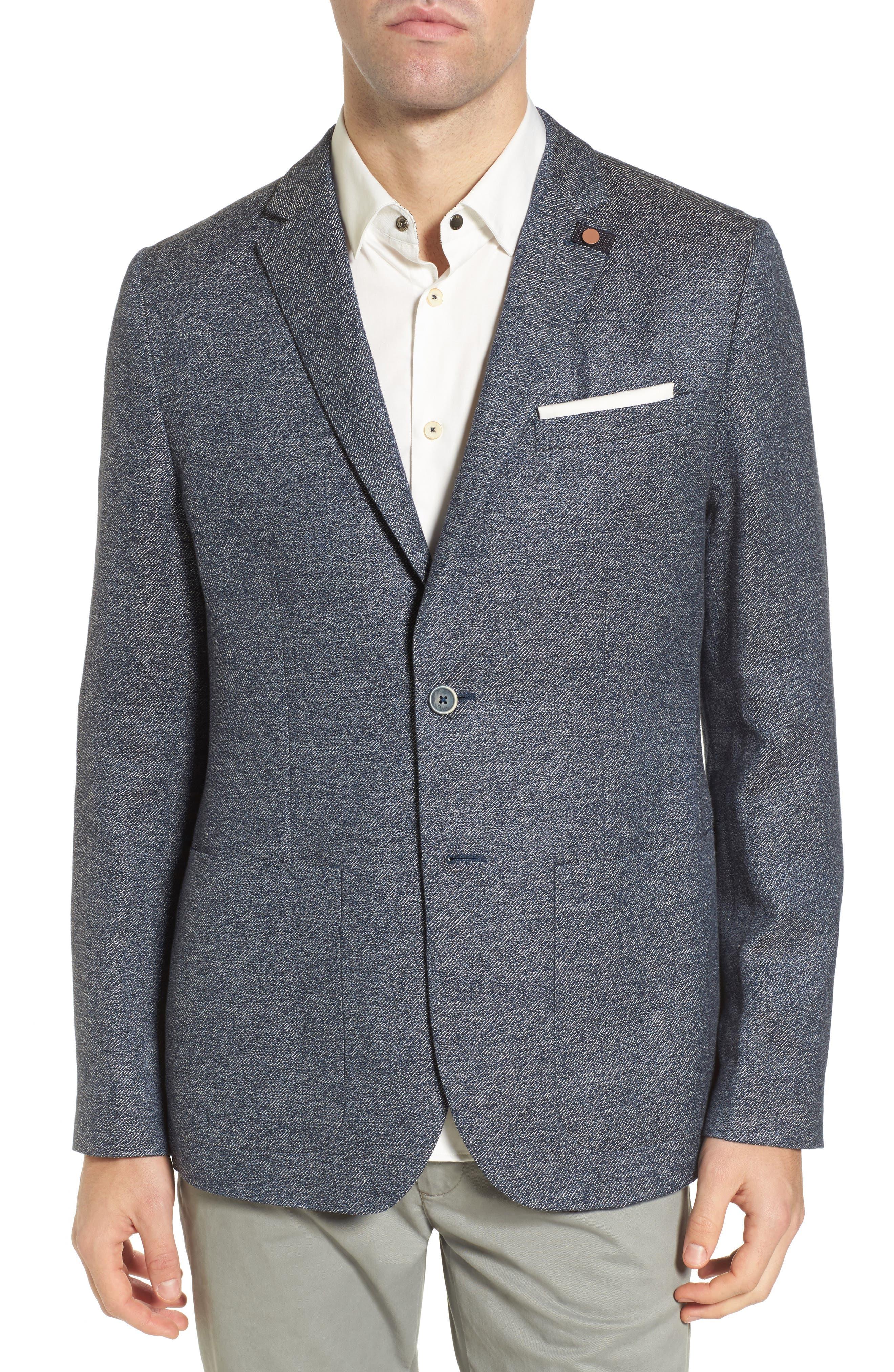 Cheea Trim Fit Mouline Sport Coat,                         Main,                         color, Blue