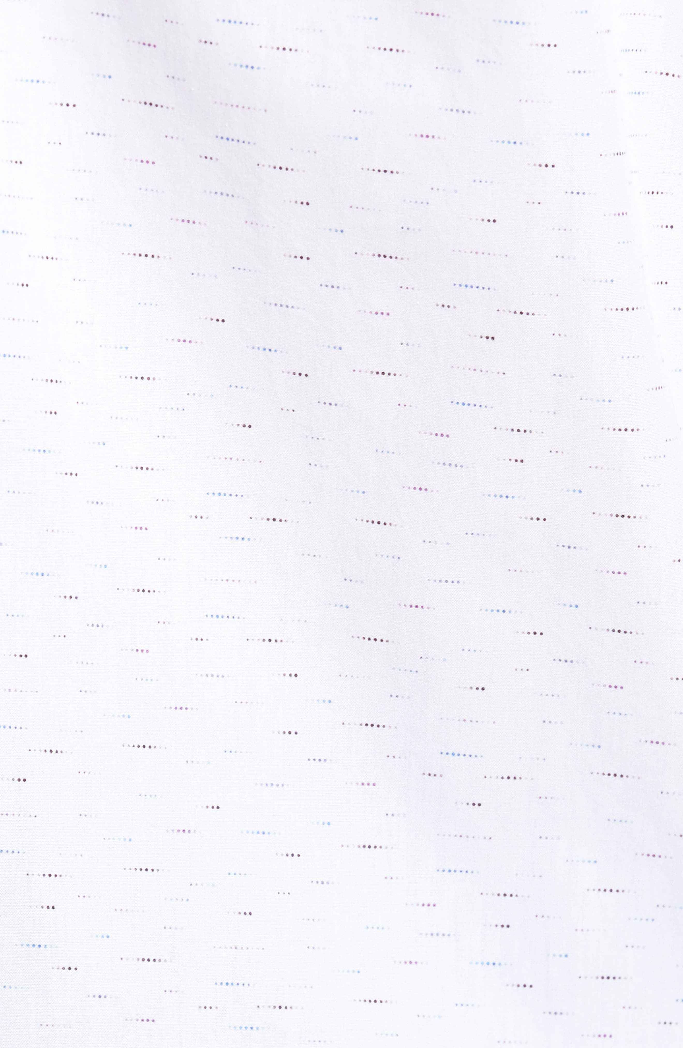 Dots Etc. Shaped Fit Sport Shirt,                             Alternate thumbnail 5, color,                             Chalk