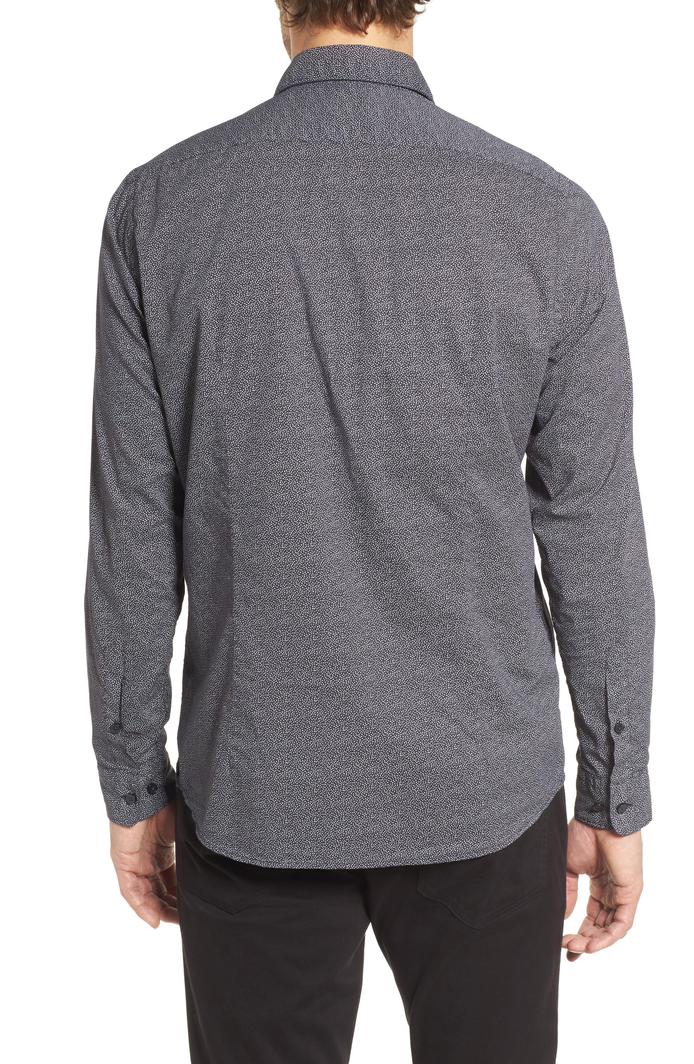 Lukas Regular Fit Print Sport Shirt,                             Alternate thumbnail 2, color,                             Blue