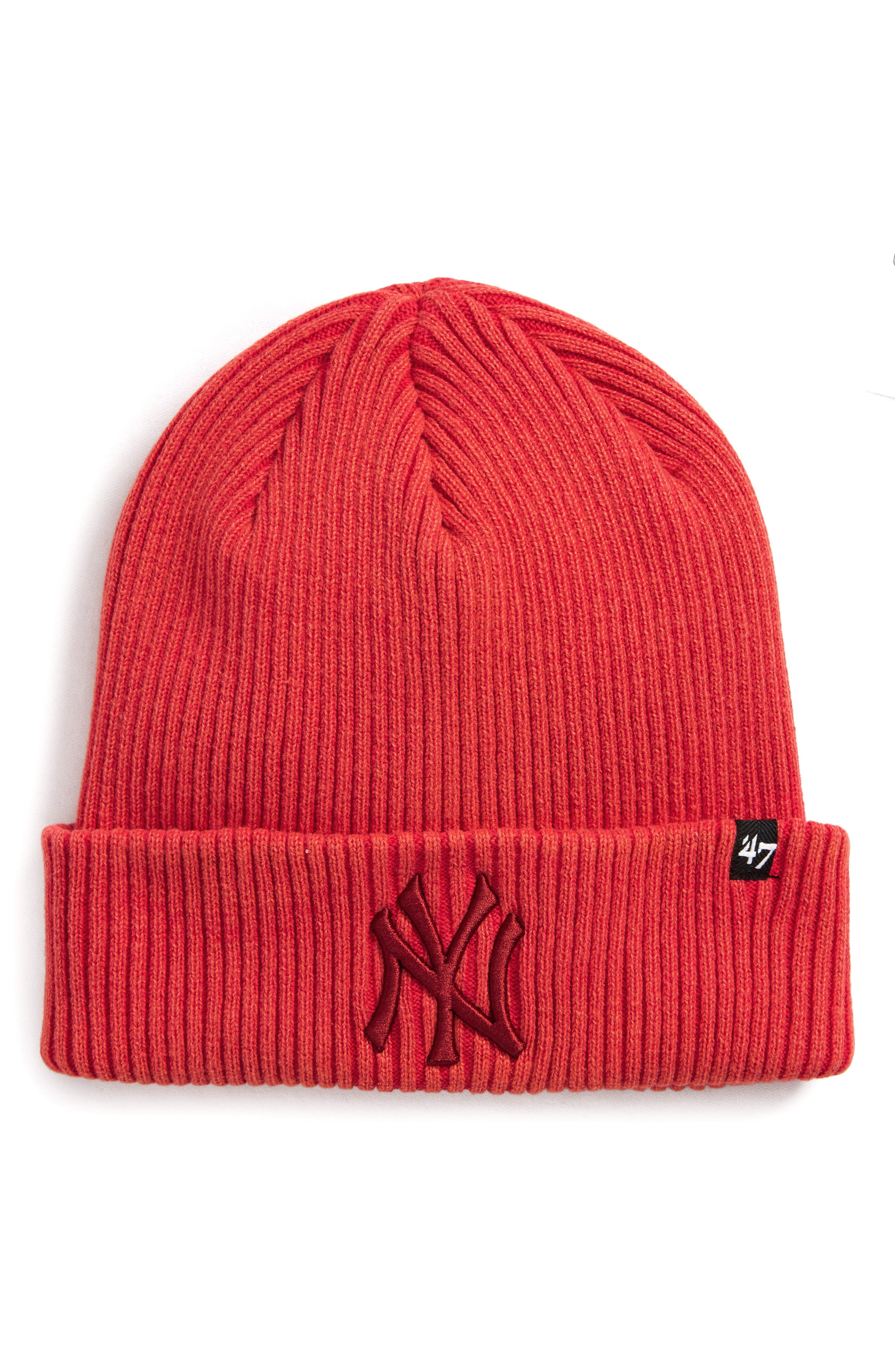 New York Yankees Northwood Beanie,                         Main,                         color, Red
