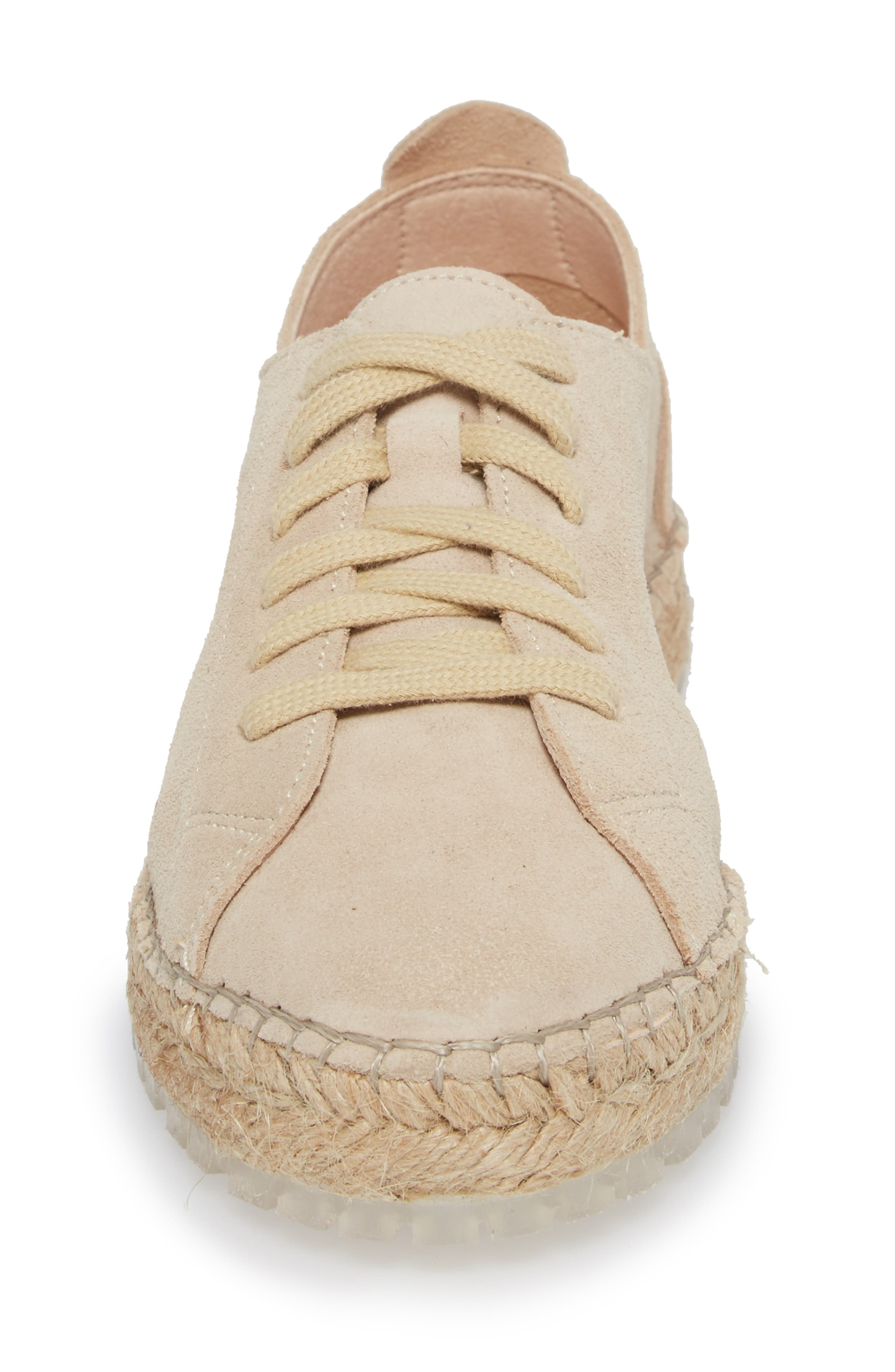 Zane Espadrille Sneaker,                             Alternate thumbnail 4, color,                             Taupe Suede