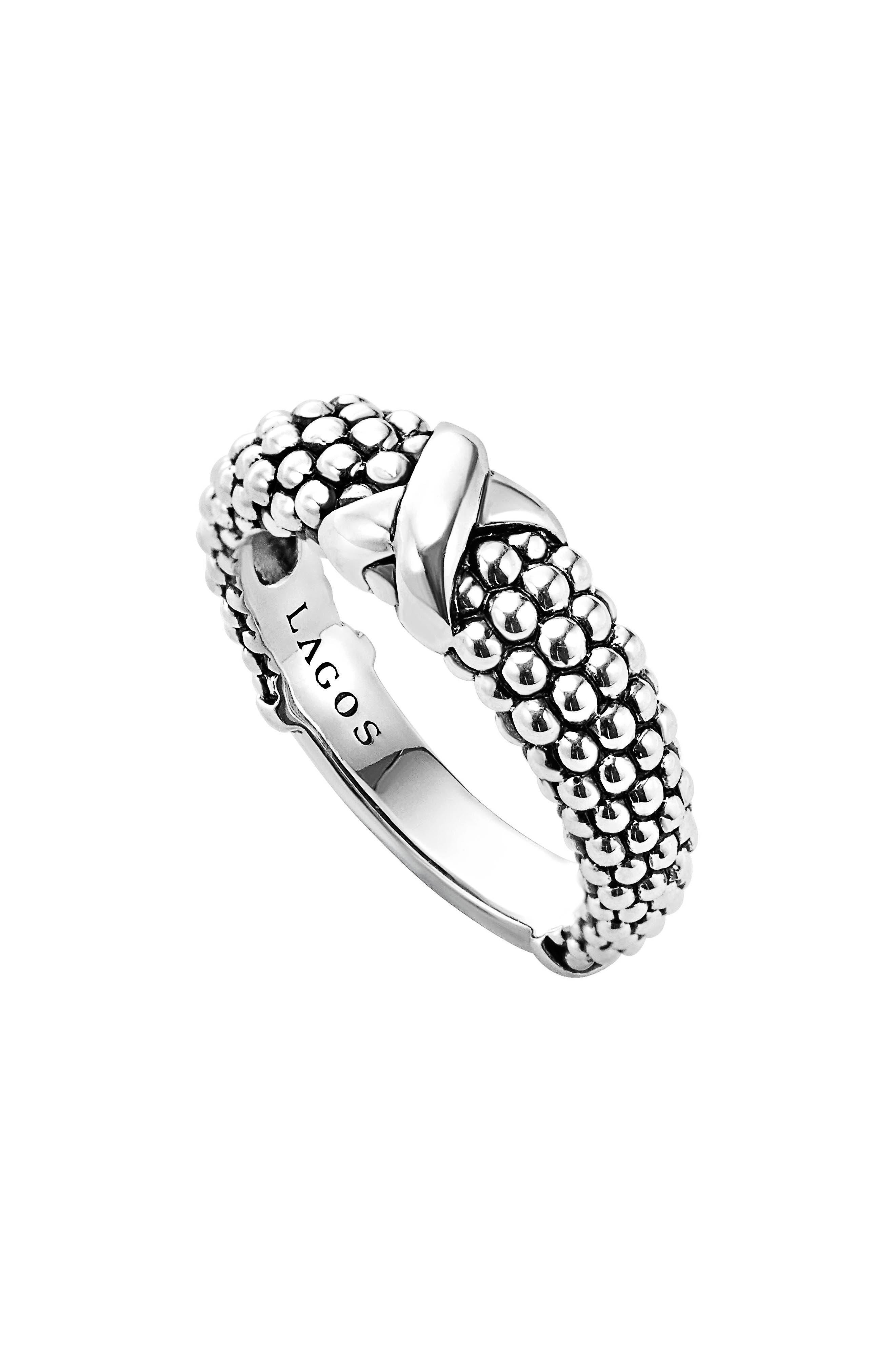 'Signature Caviar' Ring,                             Main thumbnail 1, color,                             Silver