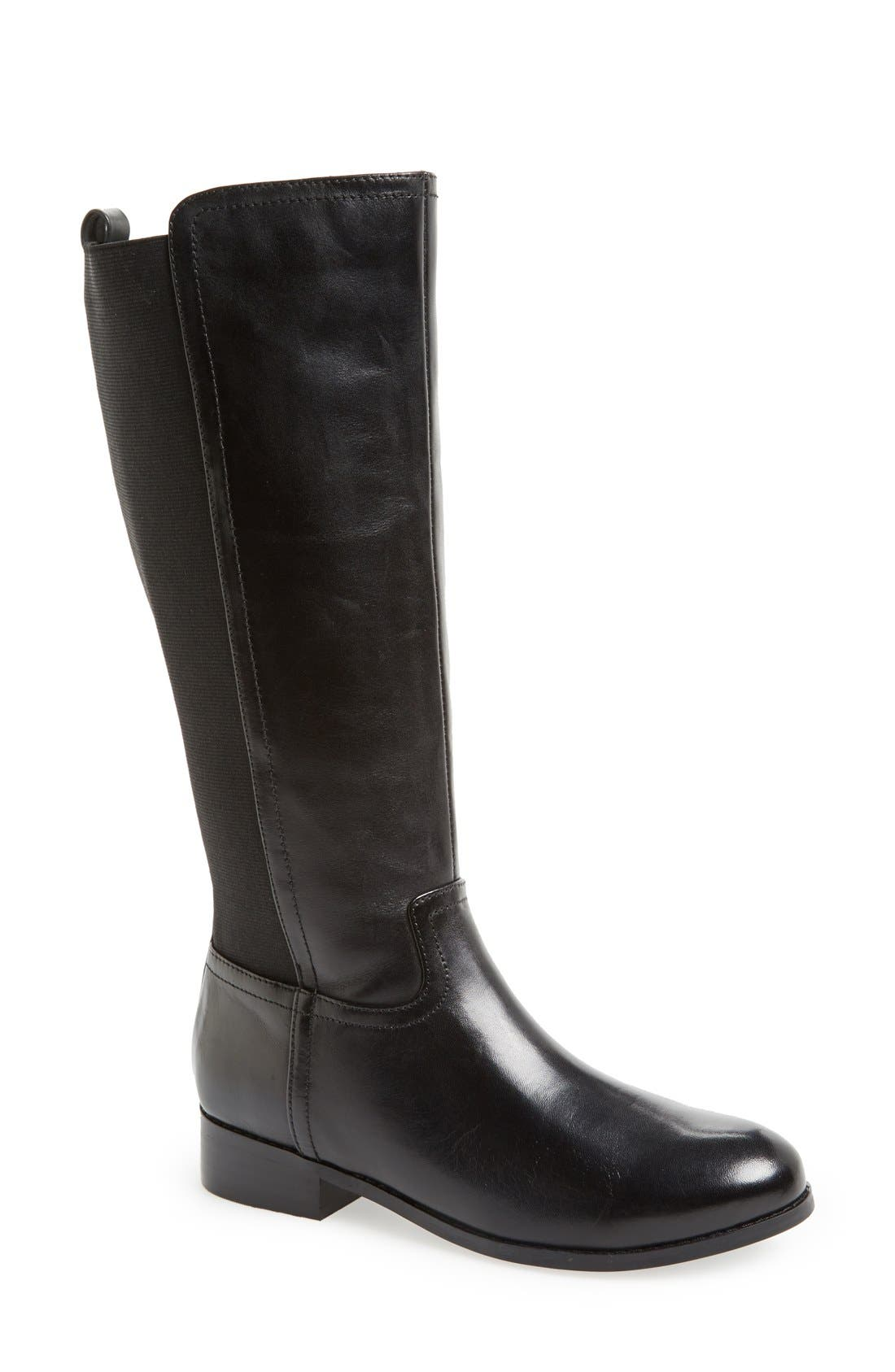 Main Image - Trotters 'Signature Lucia' Leather Riding Boot (Wide Calf) (Women)