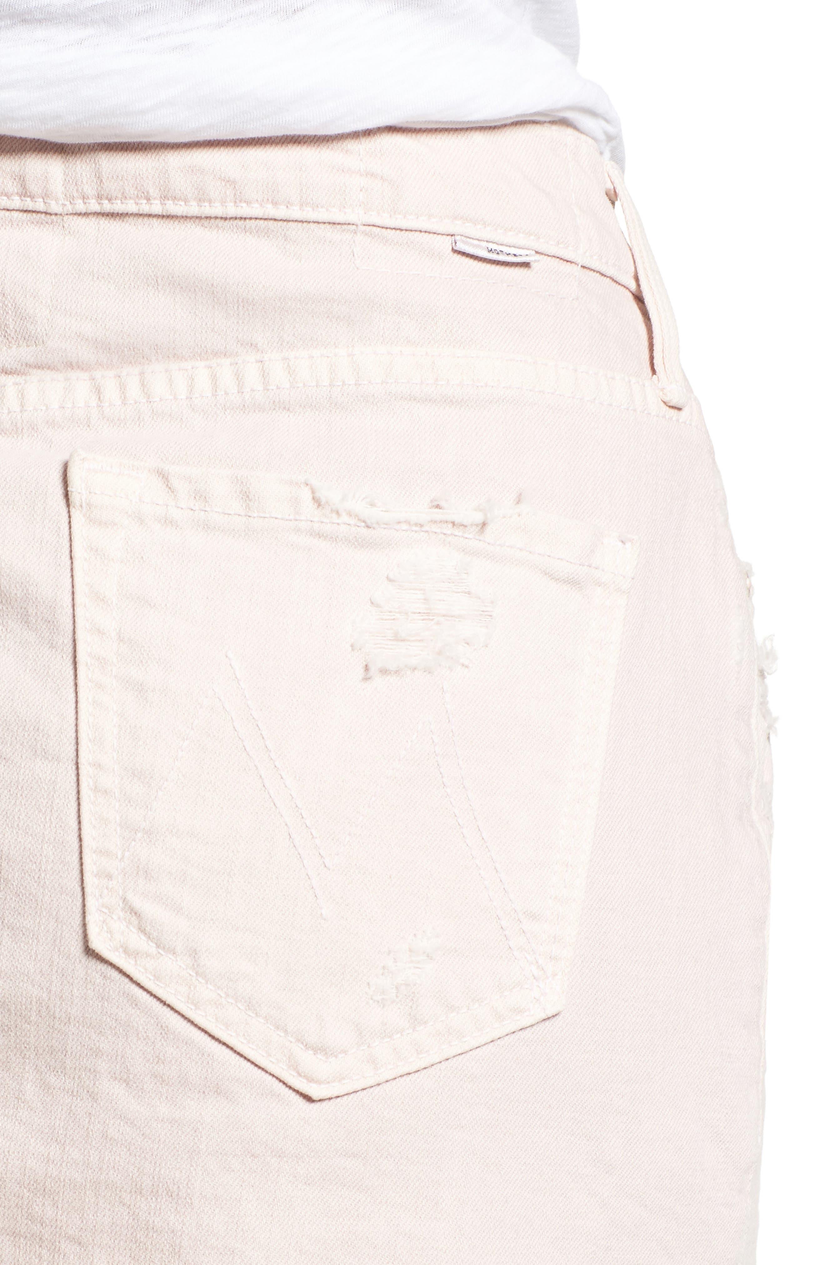 The Vagabond Cutoff Denim Miniskirt,                             Alternate thumbnail 4, color,                             Soft Pink