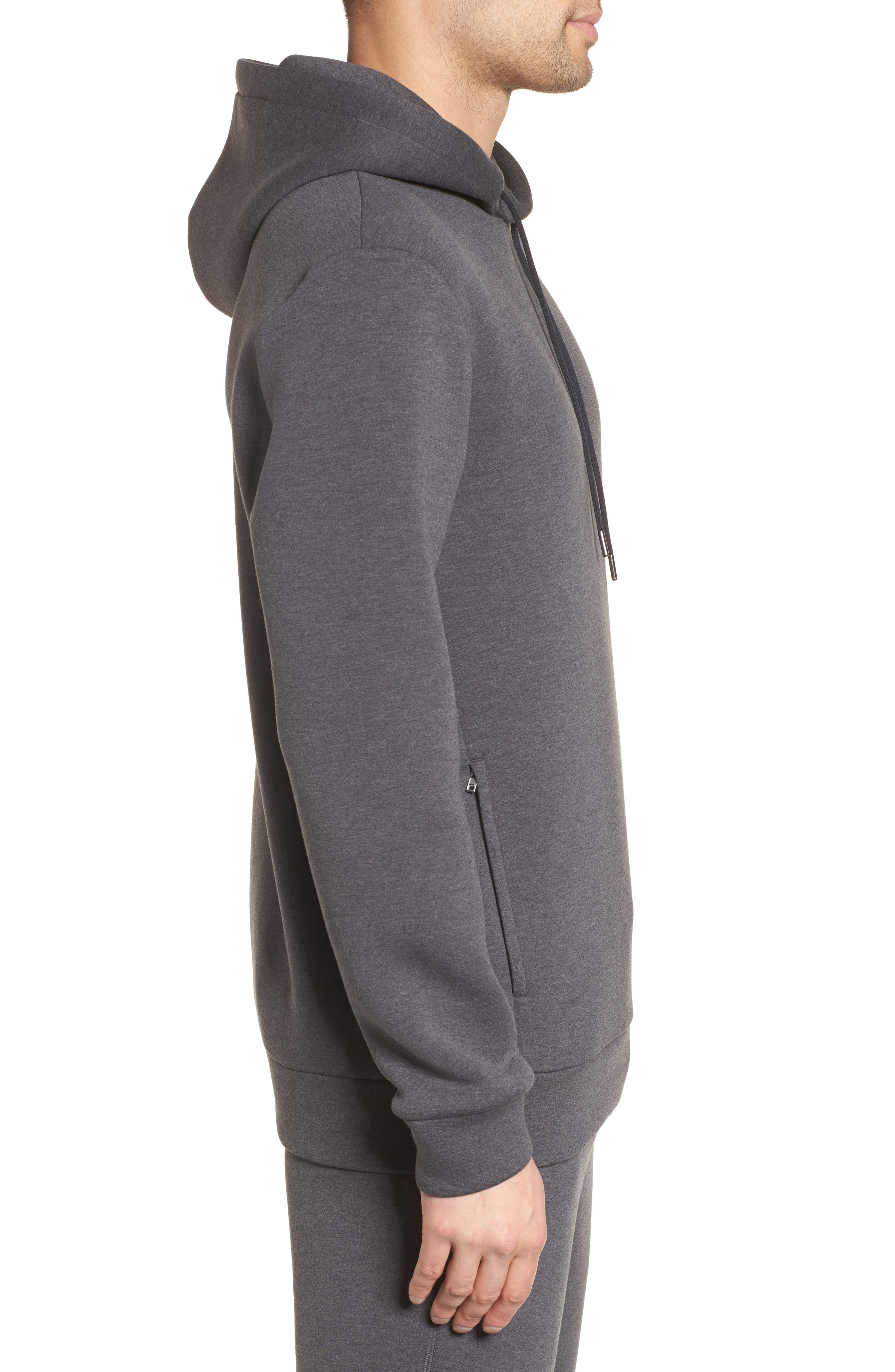 Scuba Pullover Hoodie,                             Alternate thumbnail 3, color,                             Charcoal Heather