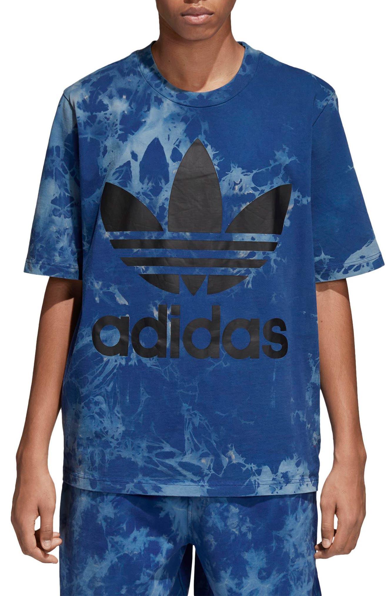 Tie Dye T-Shirt,                         Main,                         color, Legend Ink