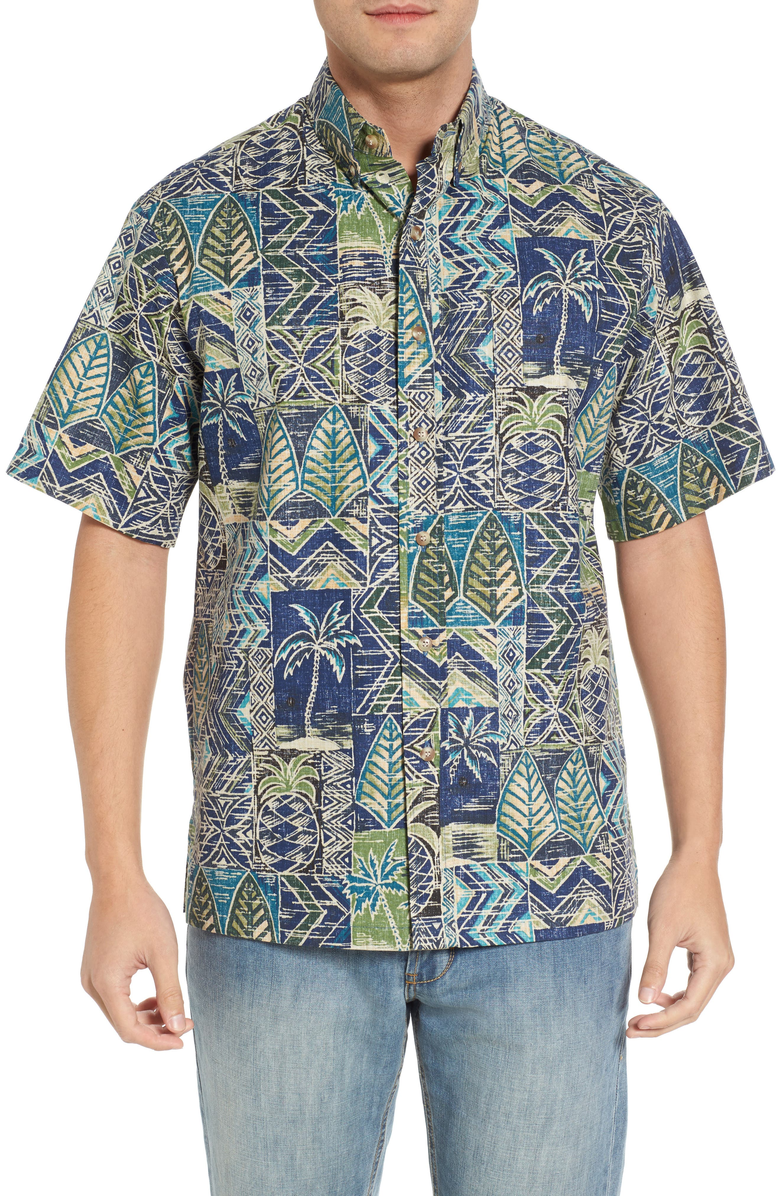 Makani Classic Fit Non-Iron Sport Shirt,                         Main,                         color, Navy