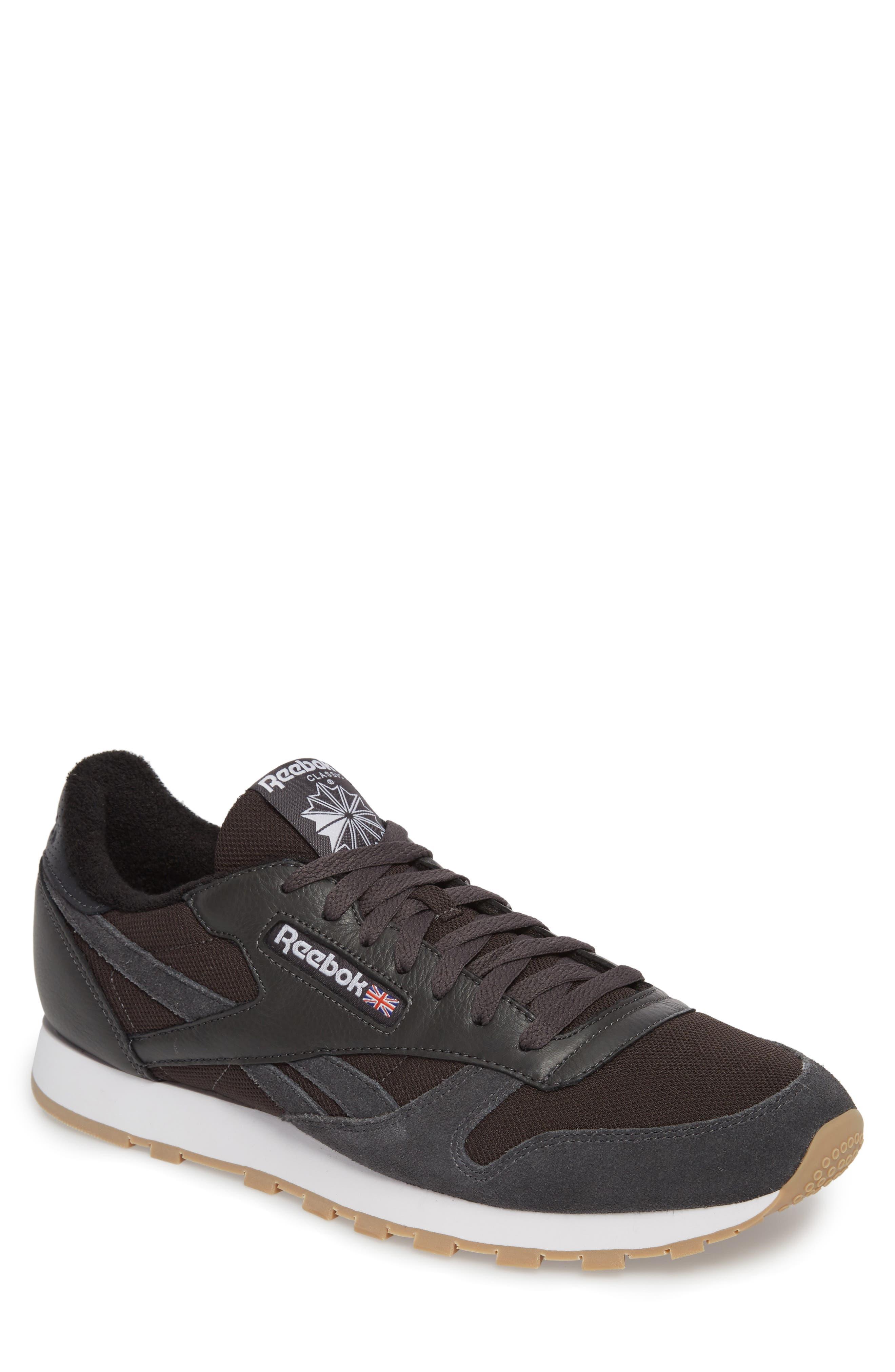 ESTL Classic Leather Sneaker,                             Main thumbnail 1, color,                             Coal/ White/ Washed Blue