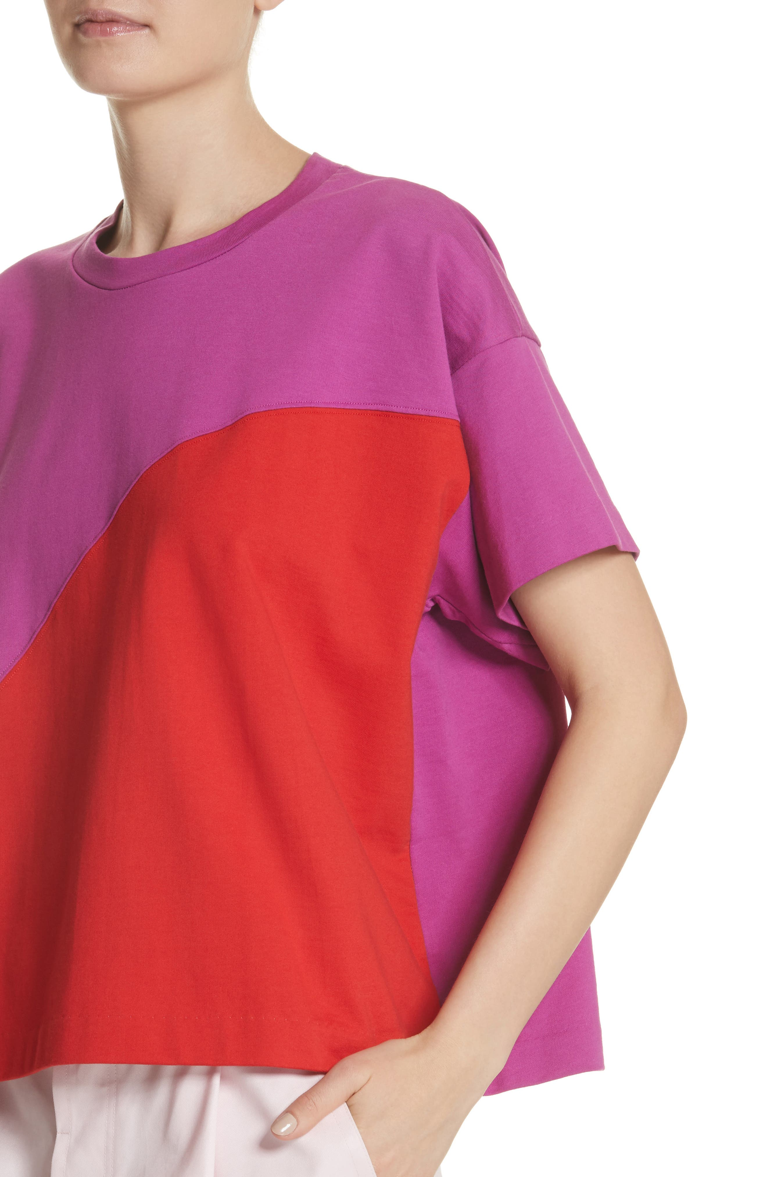 Colorblock Tee,                             Alternate thumbnail 4, color,                             1Red/Violet