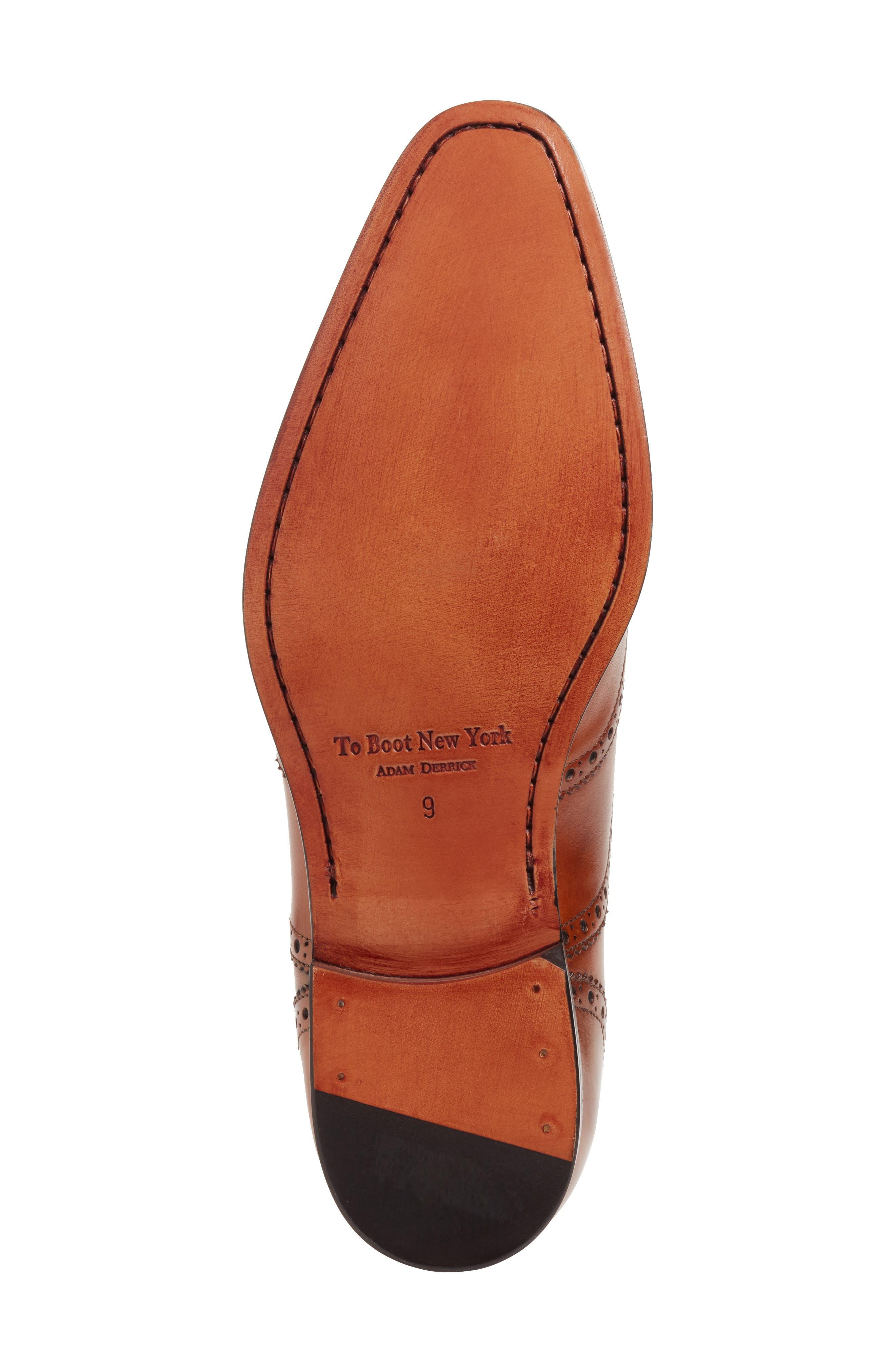 Ambler Wingtip,                             Alternate thumbnail 6, color,                             Cognac Leather