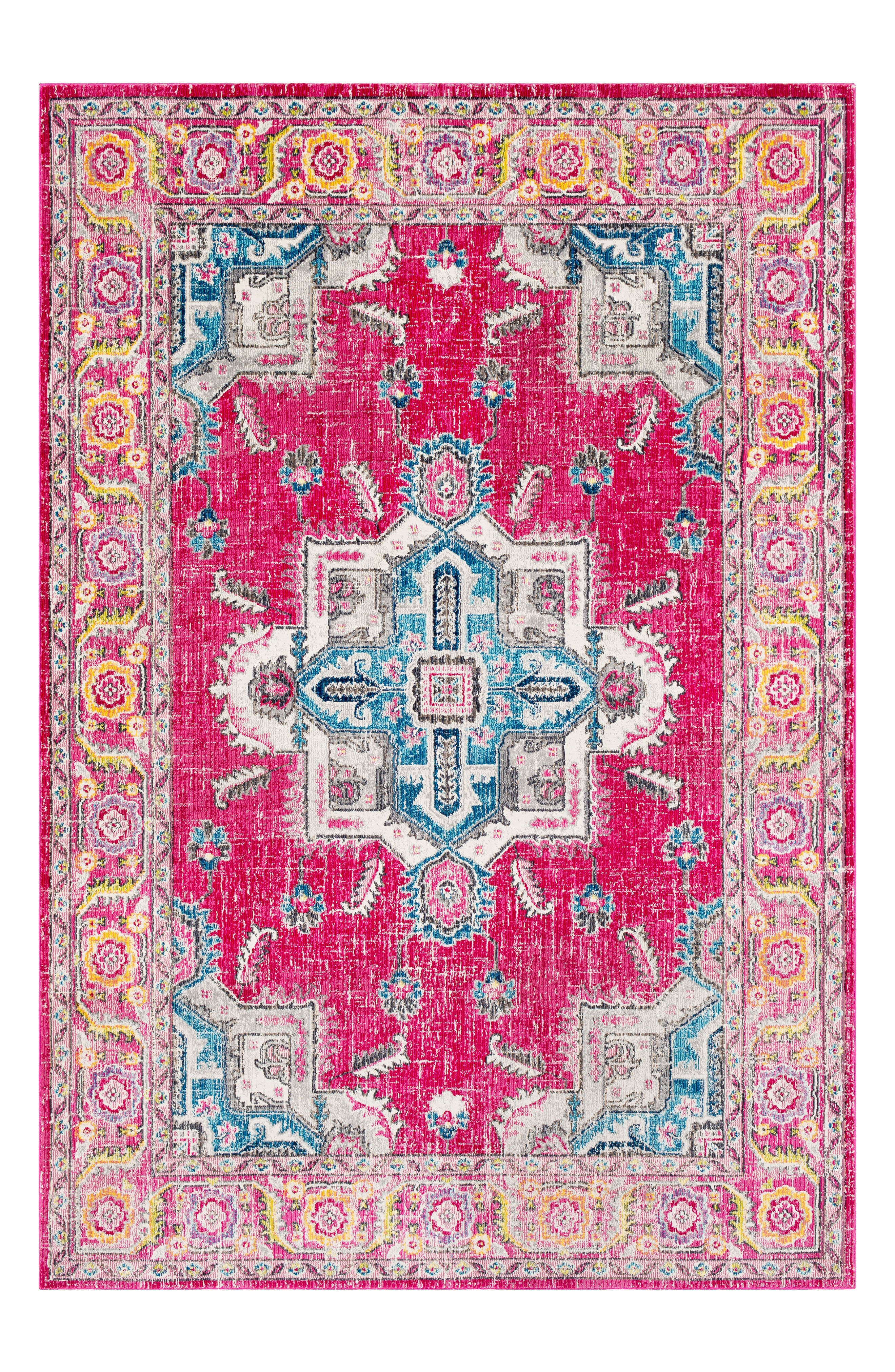 Aura Area Rug,                             Main thumbnail 1, color,                             Pink