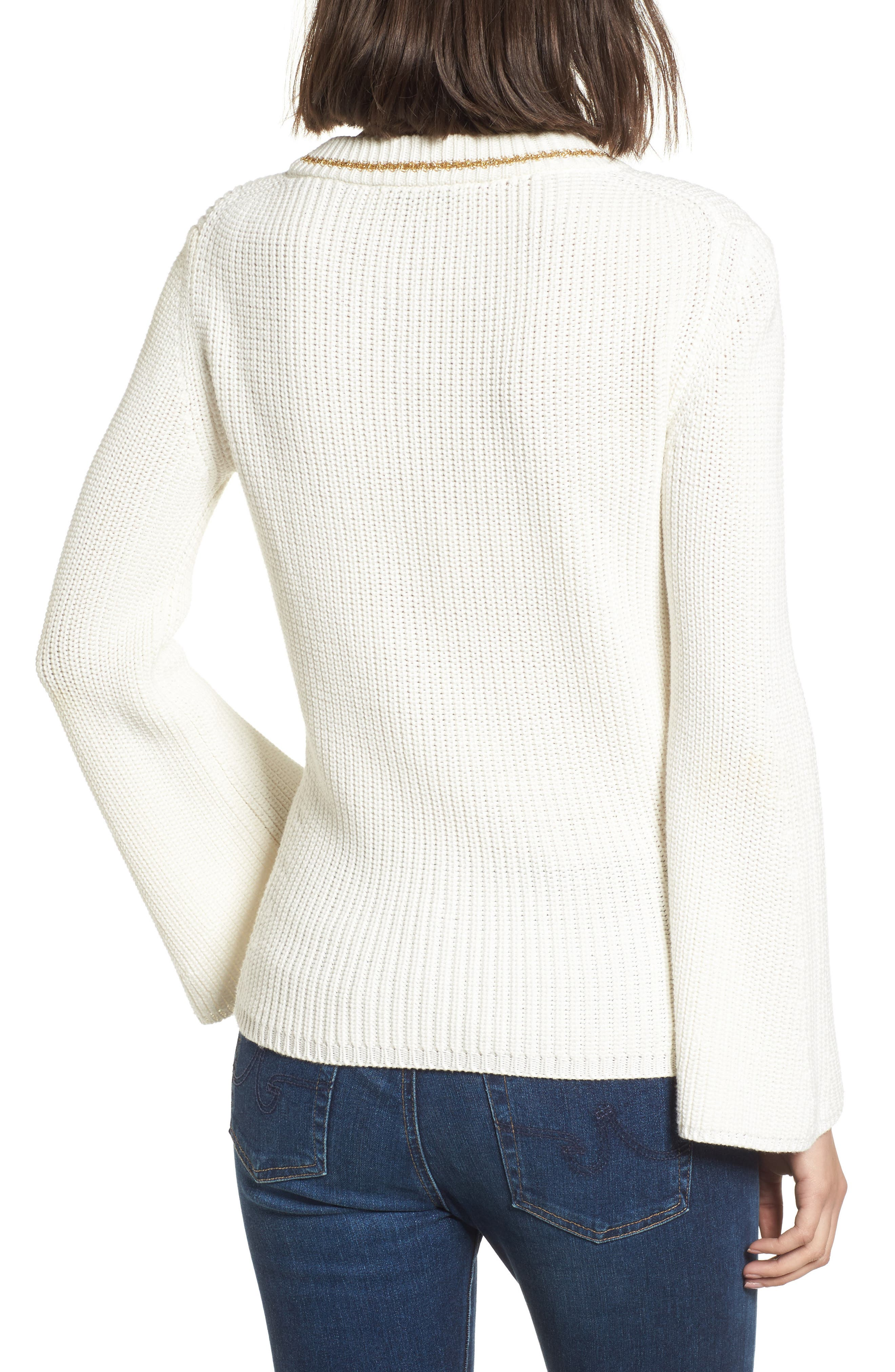 Coco Sweater,                             Alternate thumbnail 2, color,                             White