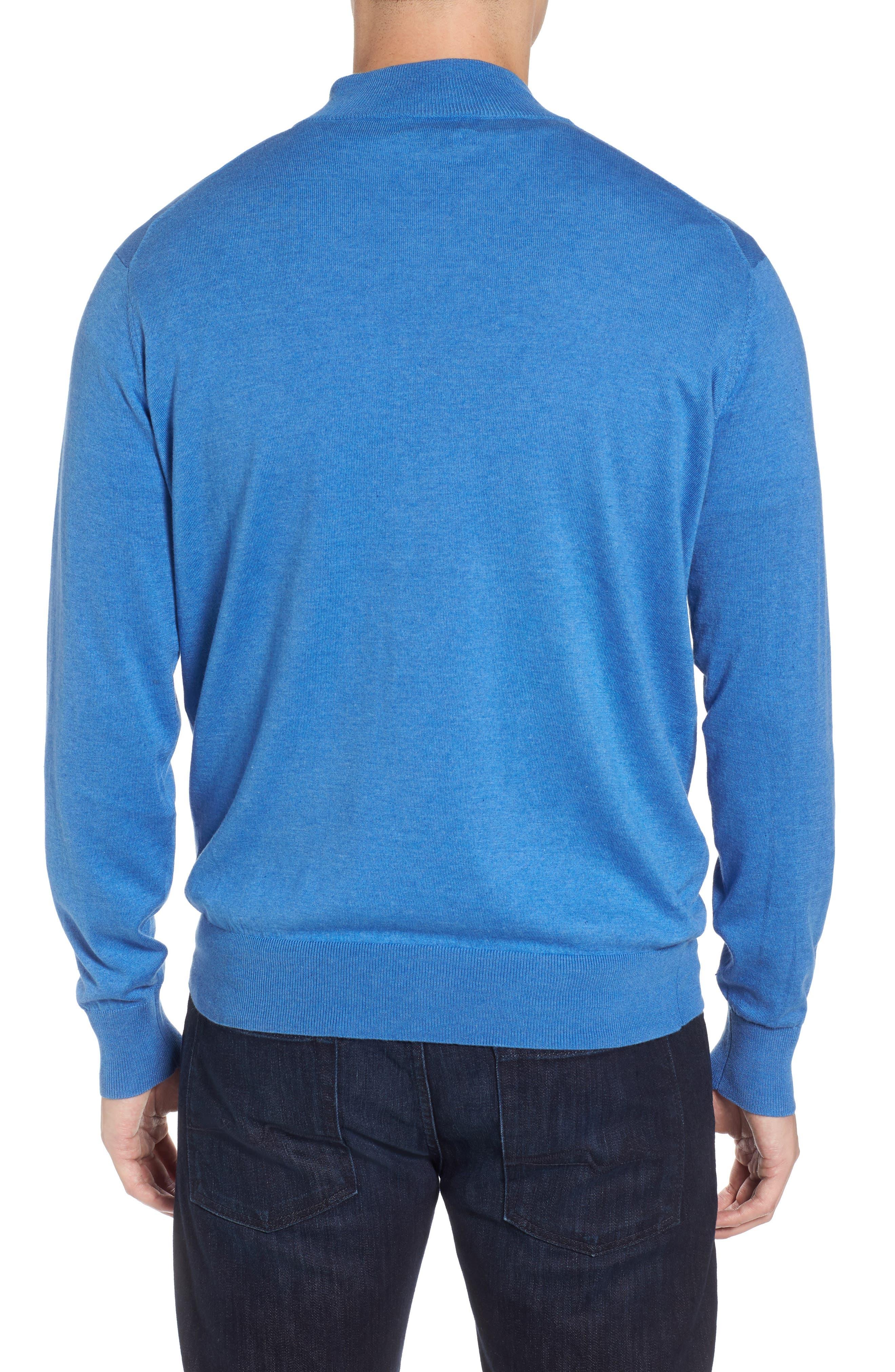 Crown Soft Quarter-Zip Pullover,                             Alternate thumbnail 2, color,                             Boardwalk Blue
