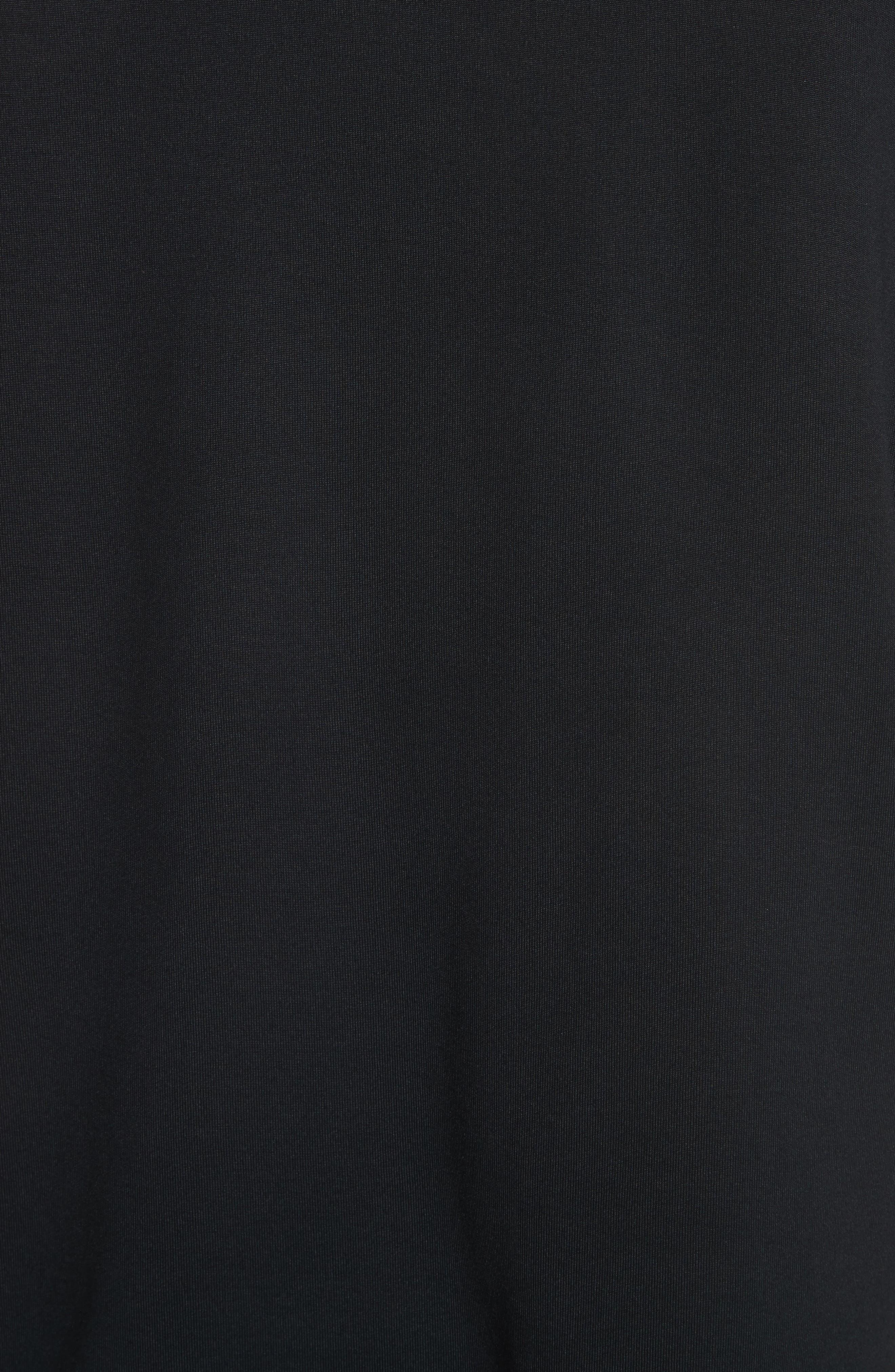 White Stripe Crewneck T-Shirt,                             Alternate thumbnail 5, color,                             Black