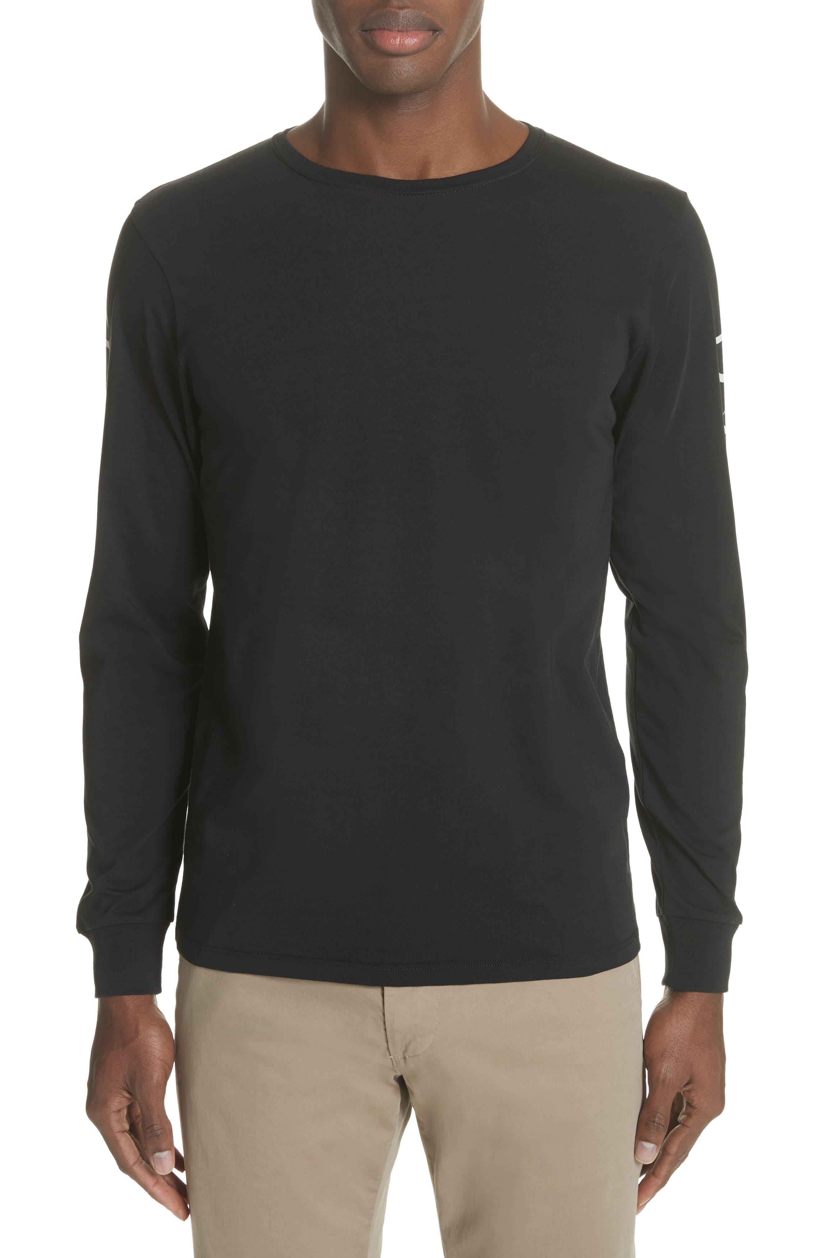 Alternate Image 1 Selected - Saturdays NYC Reverse Print Long Sleeve T-Shirt