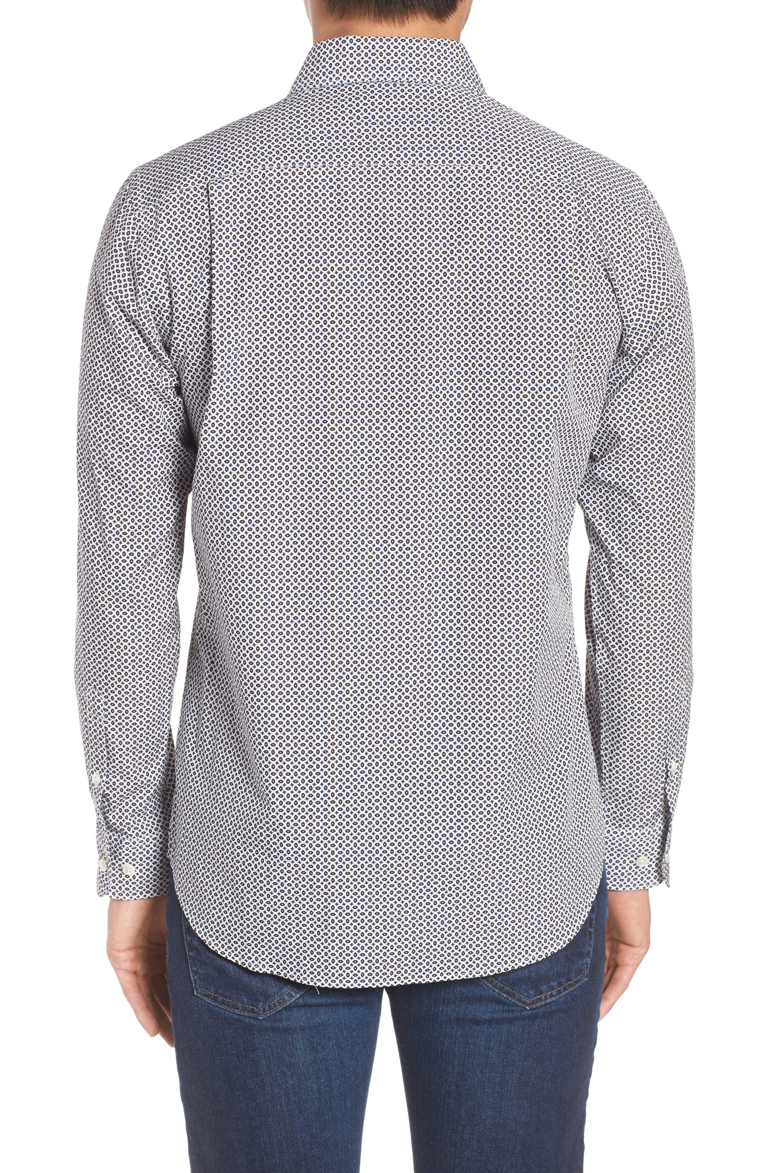 Oak House Regular Fit Sport Shirt,                             Alternate thumbnail 3, color,                             Ivory