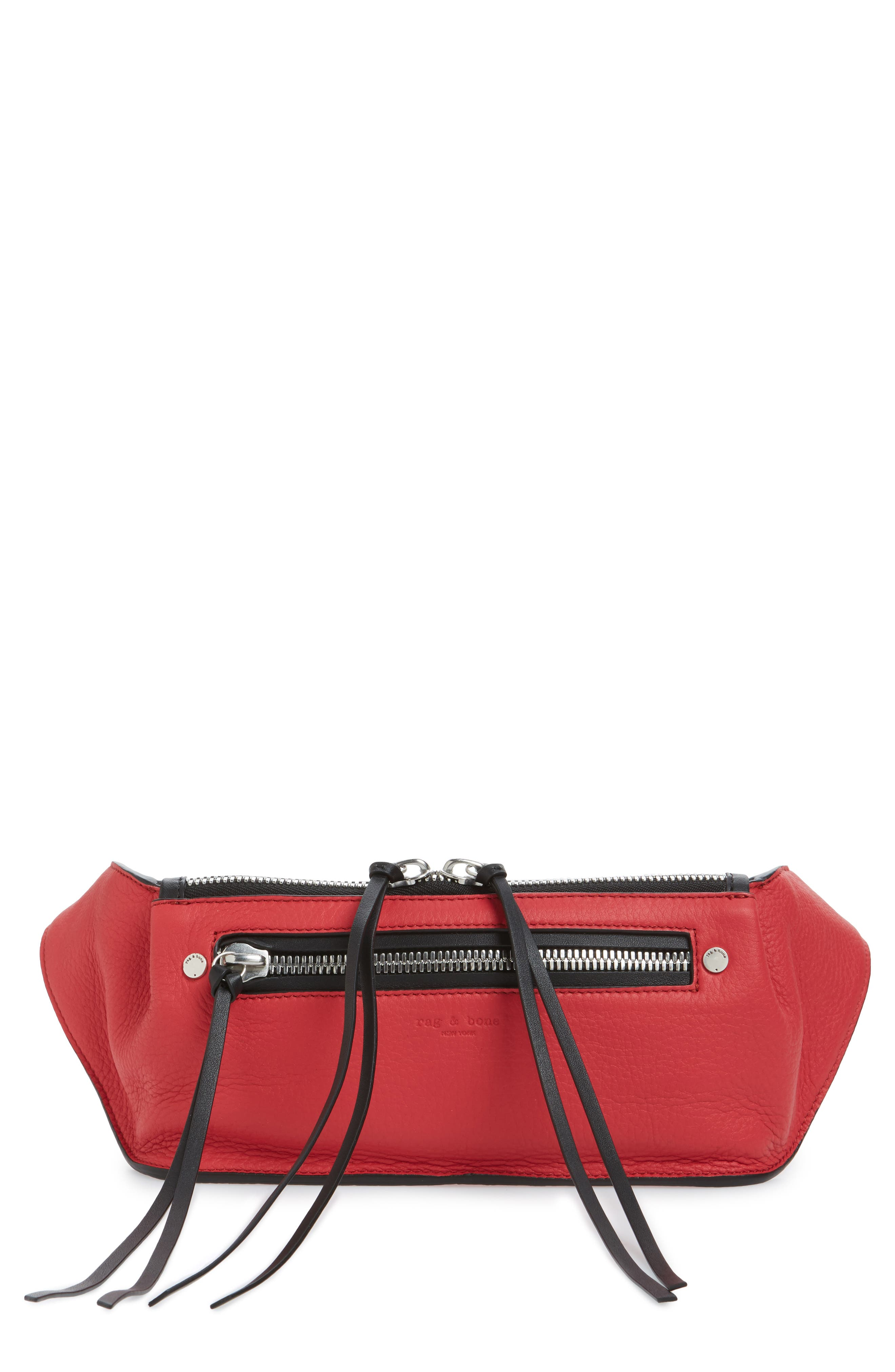 Large Ellis Leather Belt Bag,                         Main,                         color, Teaberry