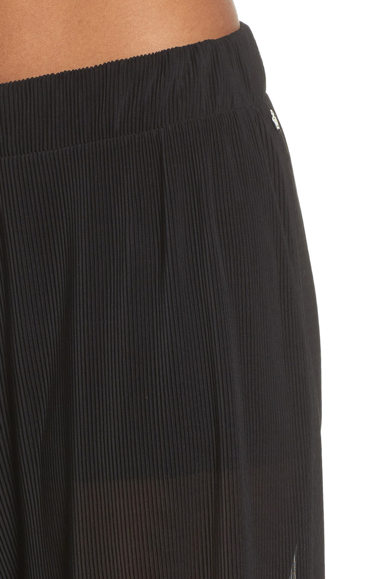 Pleated Culottes,                             Alternate thumbnail 4, color,                             Black