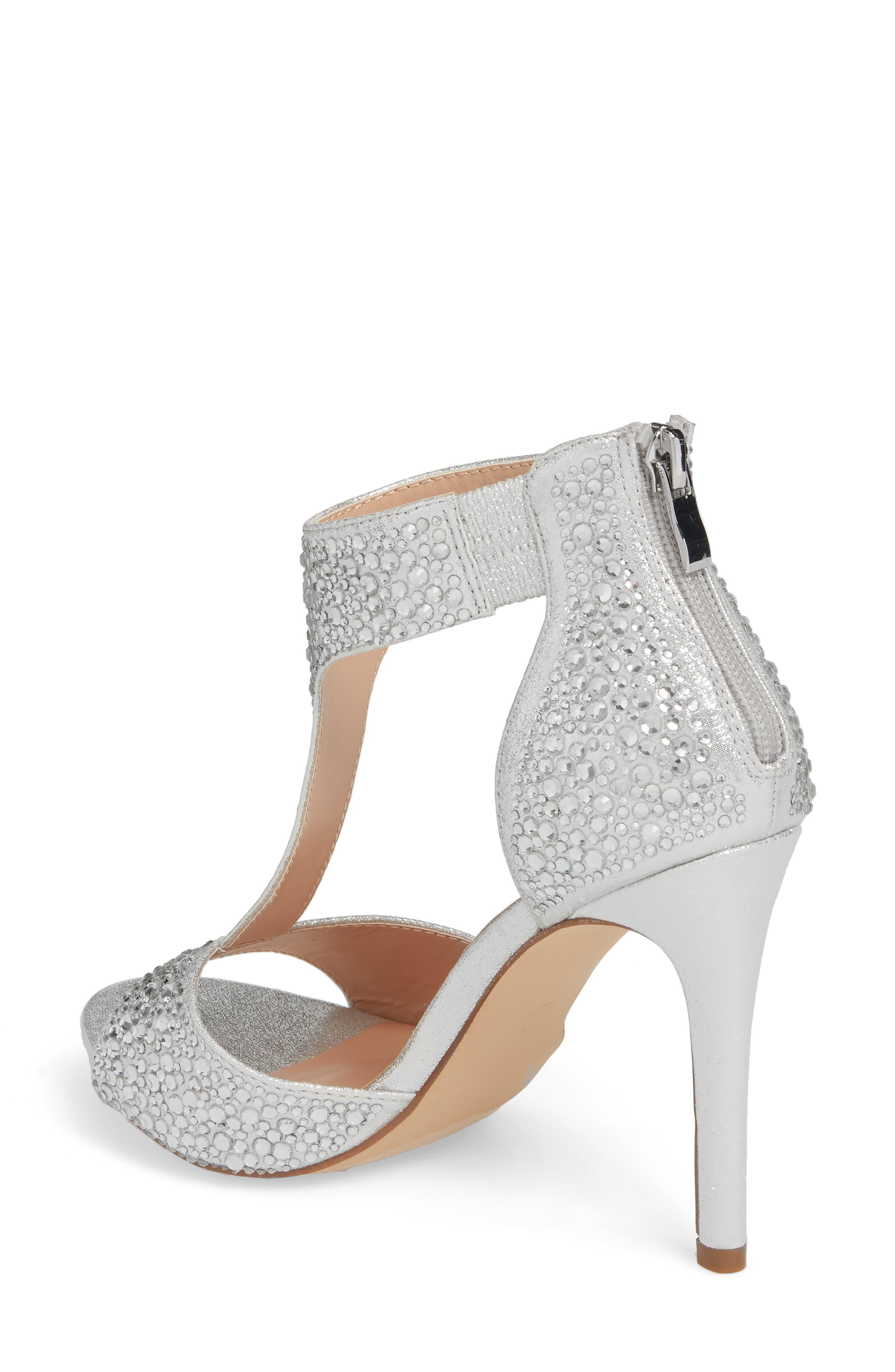 Ina Crystal Embellished Sandal,                             Alternate thumbnail 2, color,                             Silver