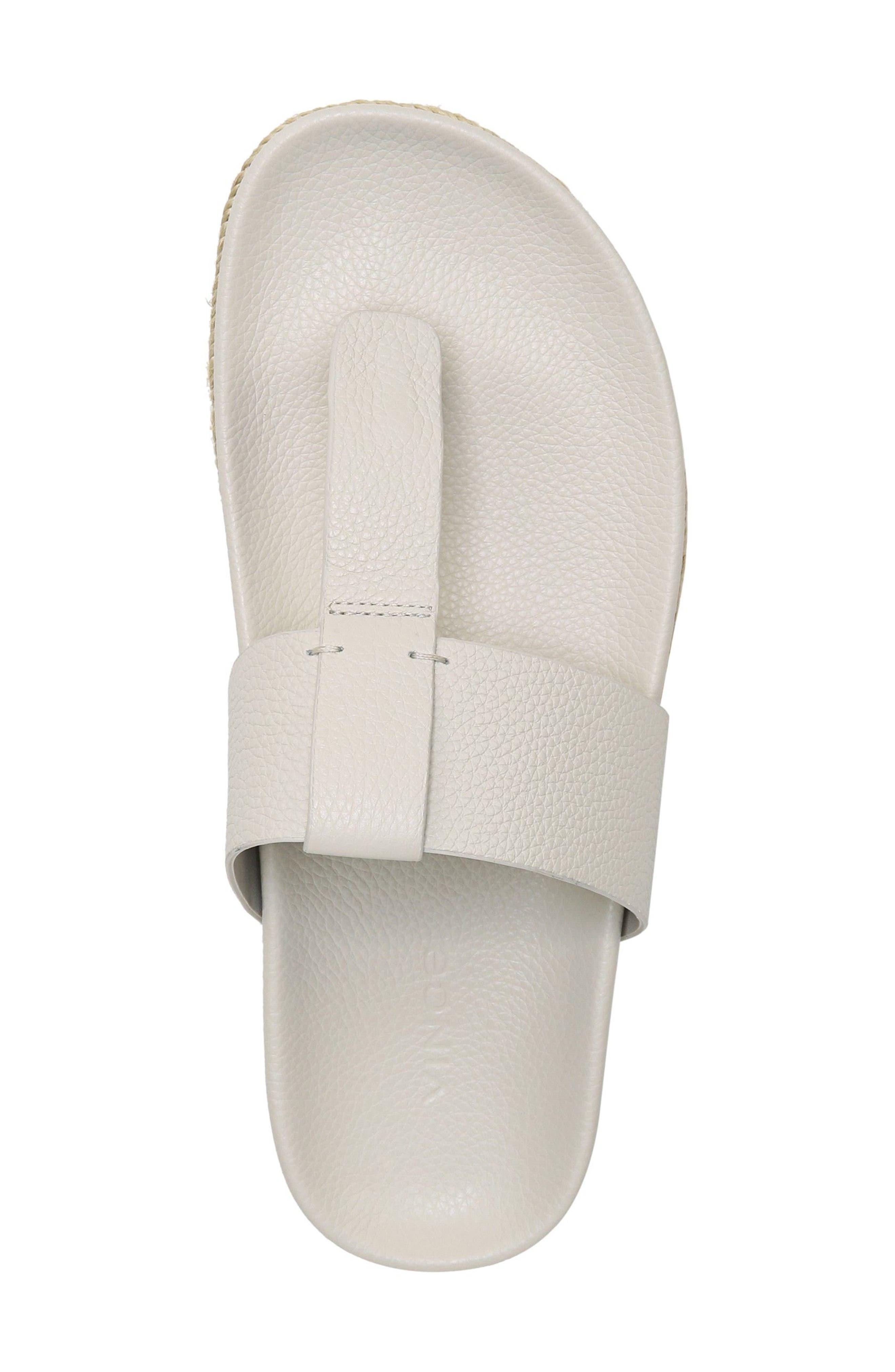 Avani T-Strap Flat Sandal,                             Alternate thumbnail 5, color,                             Oyster