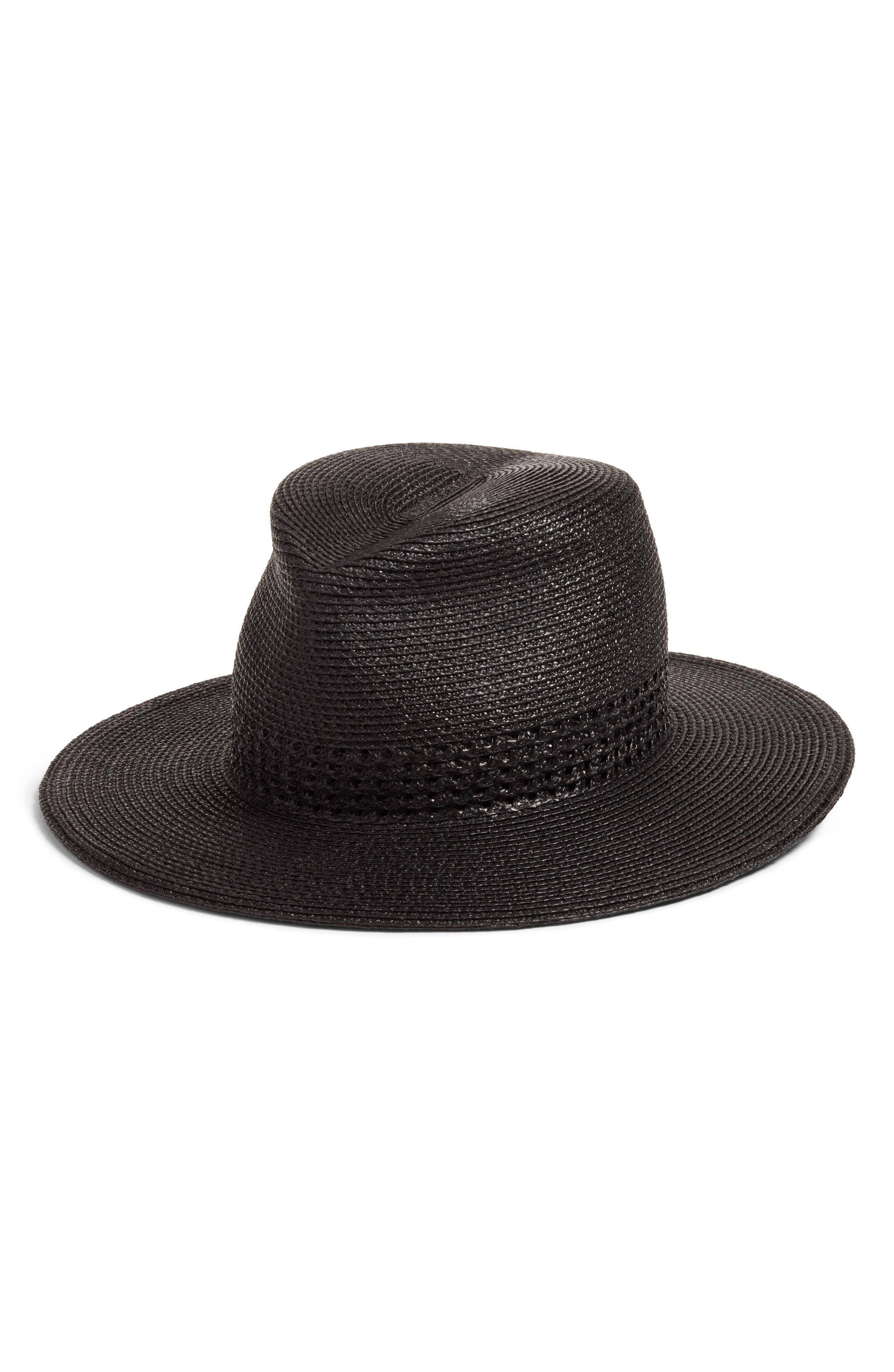 Bayou Packable Squishee<sup>®</sup> Fedora,                             Main thumbnail 1, color,                             Black