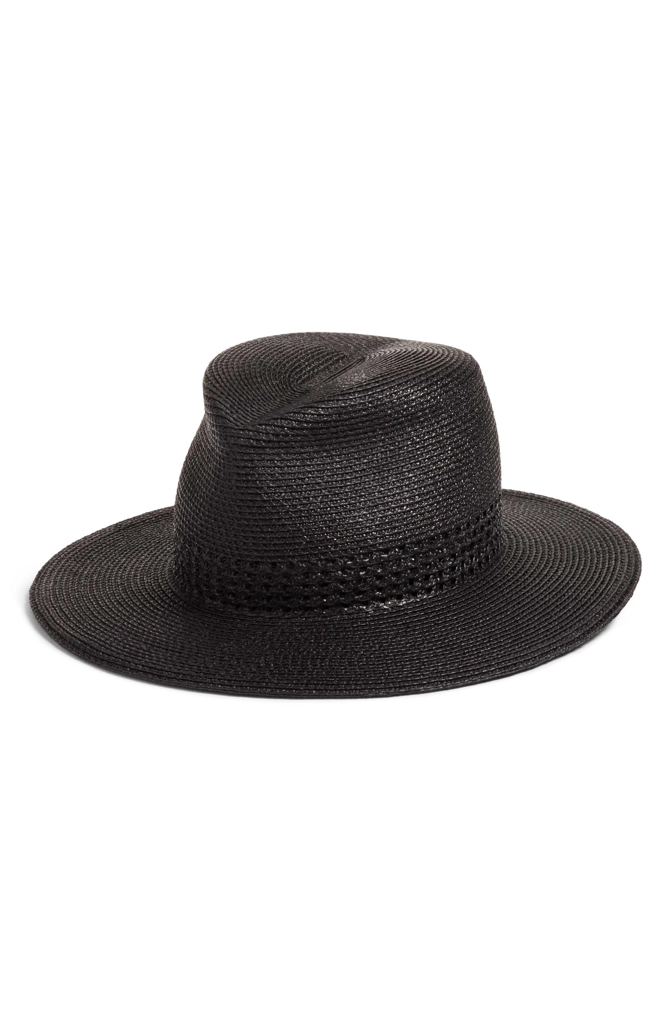 Bayou Packable Squishee<sup>®</sup> Fedora,                         Main,                         color, Black
