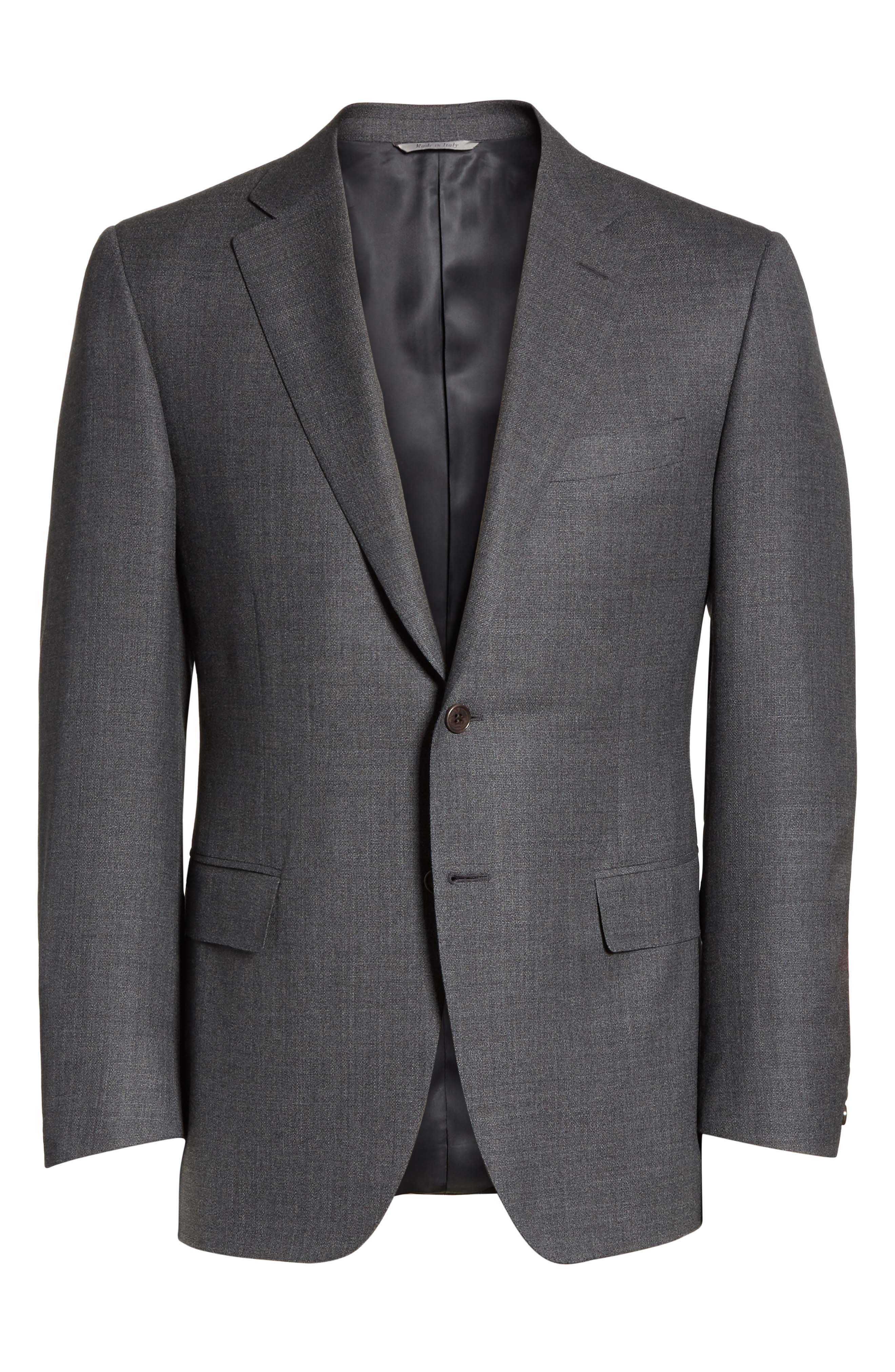 Classic Fit Wool Blazer,                             Alternate thumbnail 6, color,                             Blue