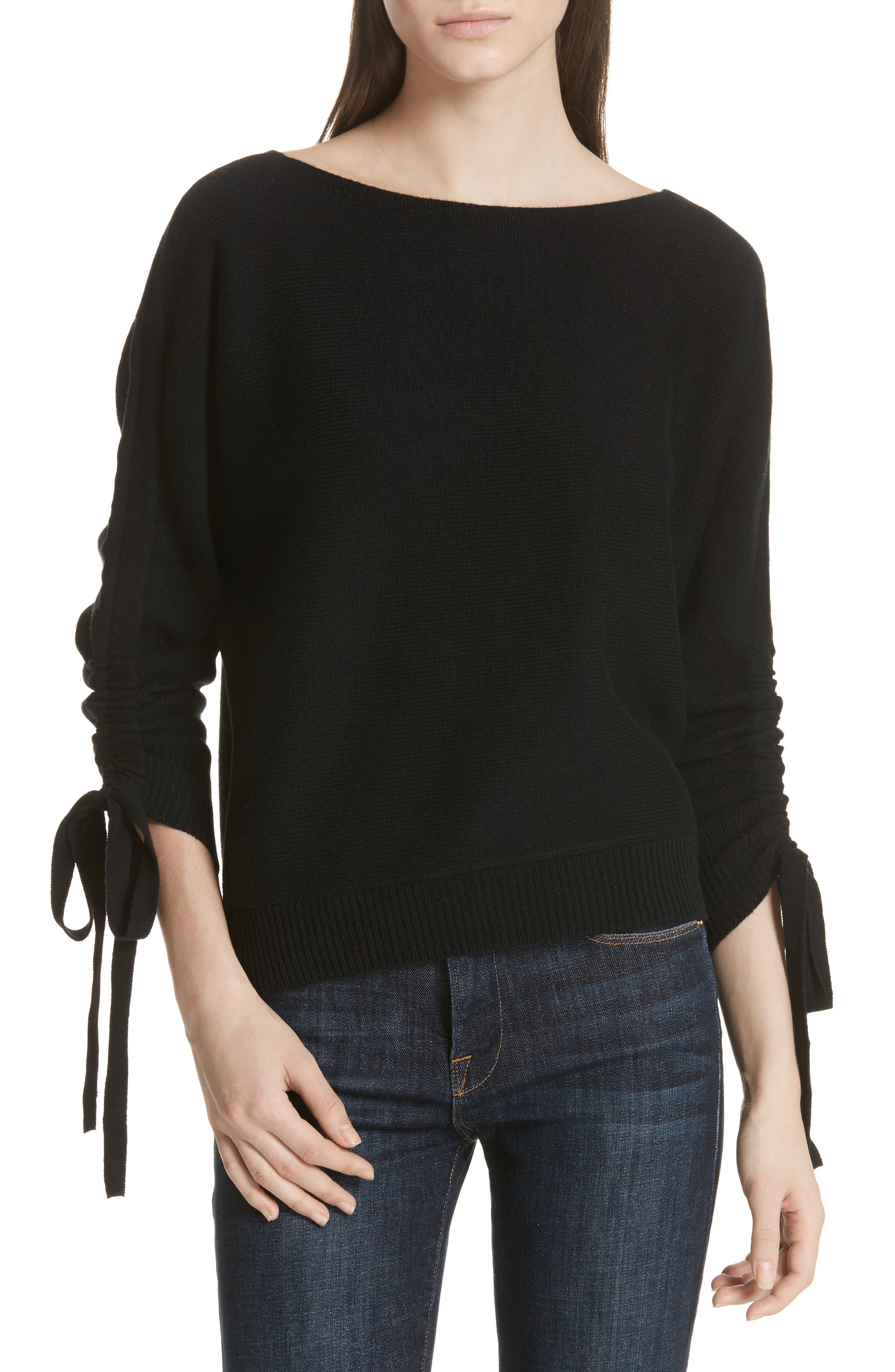 Dannee Wool & Cashmere Sweater,                         Main,                         color, Caviar