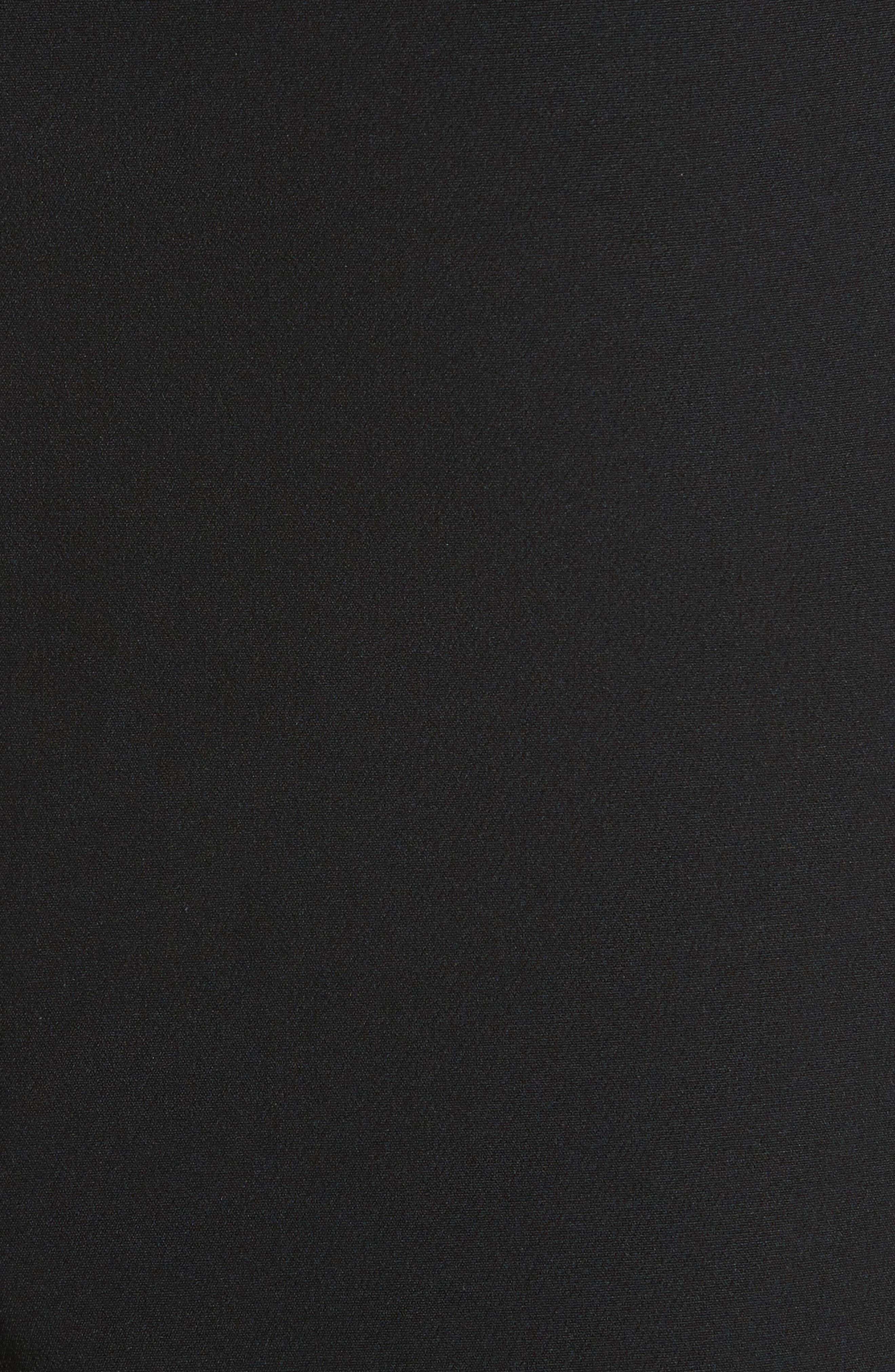 Luna Cutout Detail Crepe Sheath Dress,                             Alternate thumbnail 5, color,                             Black