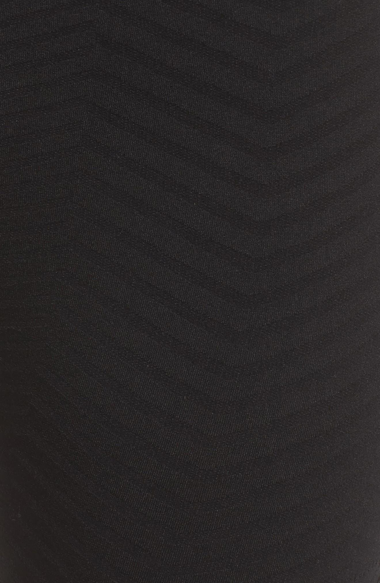 Cadence High Waist Leggings,                             Alternate thumbnail 6, color,                             Black