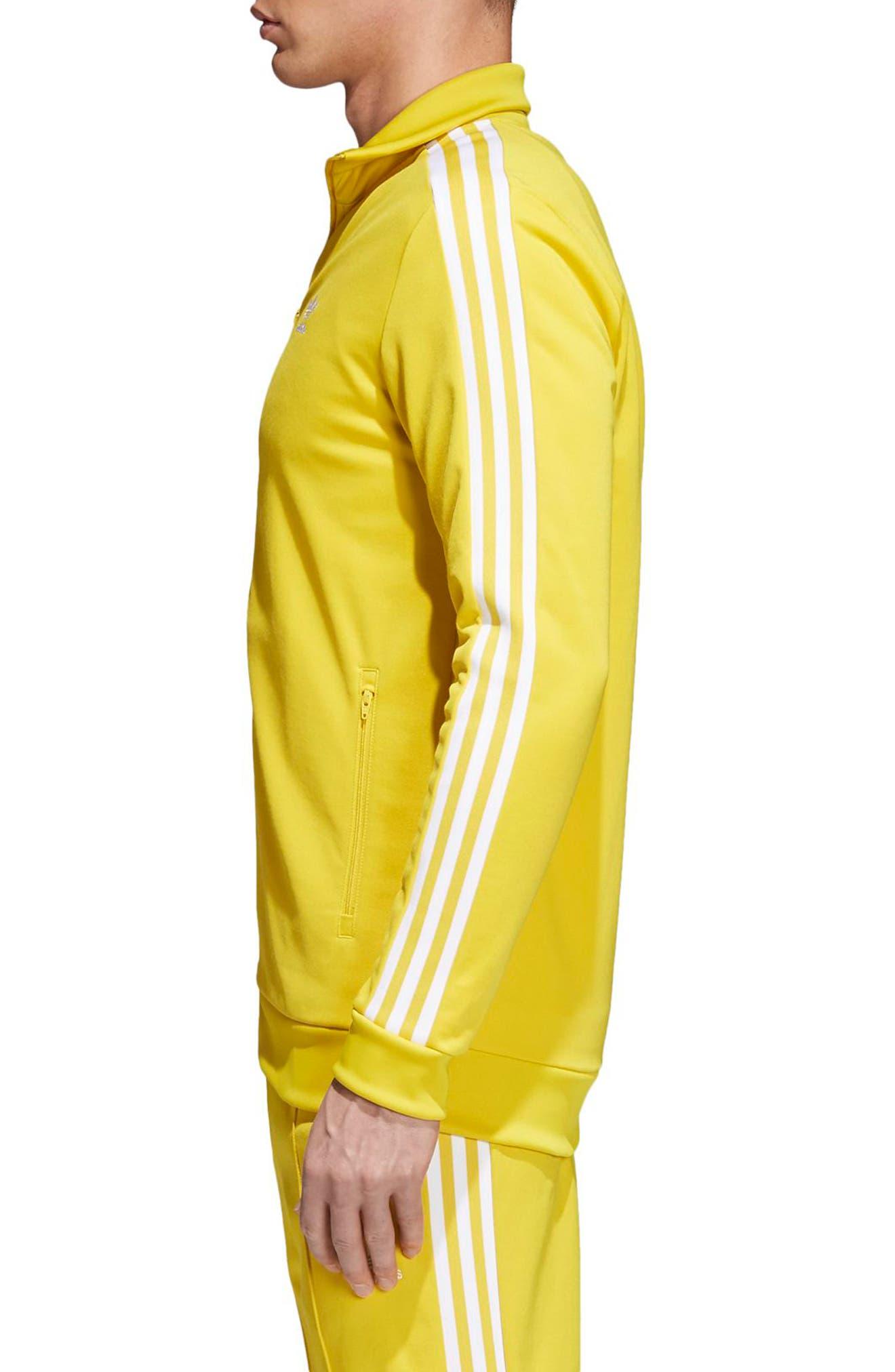 adidas Original Franz Beckenbauer Track Jacket,                             Alternate thumbnail 3, color,                             Tribe Yellow