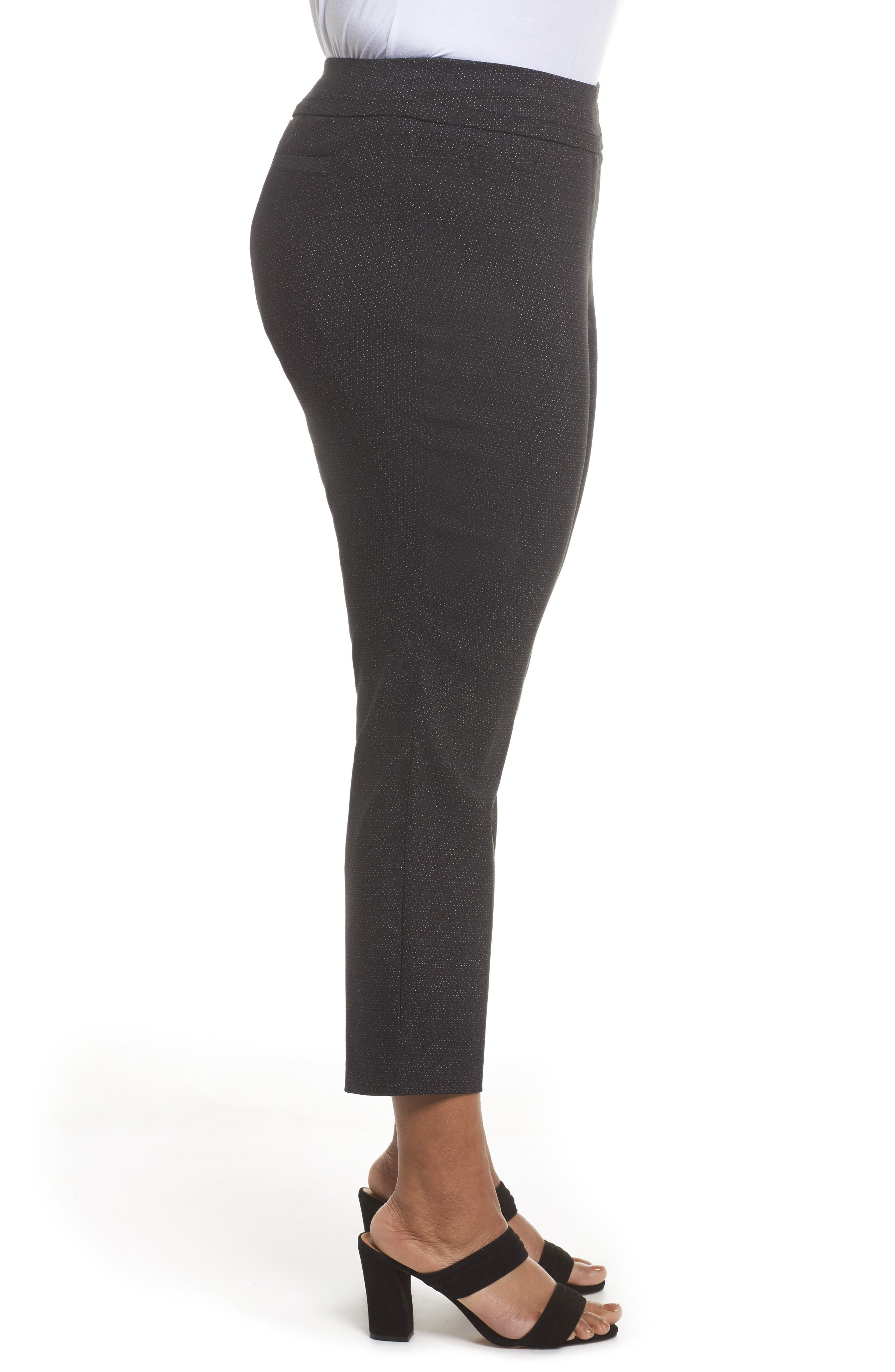 Alternate Image 3  - Sejour Textured Stretch Crop Pants (Plus Size)