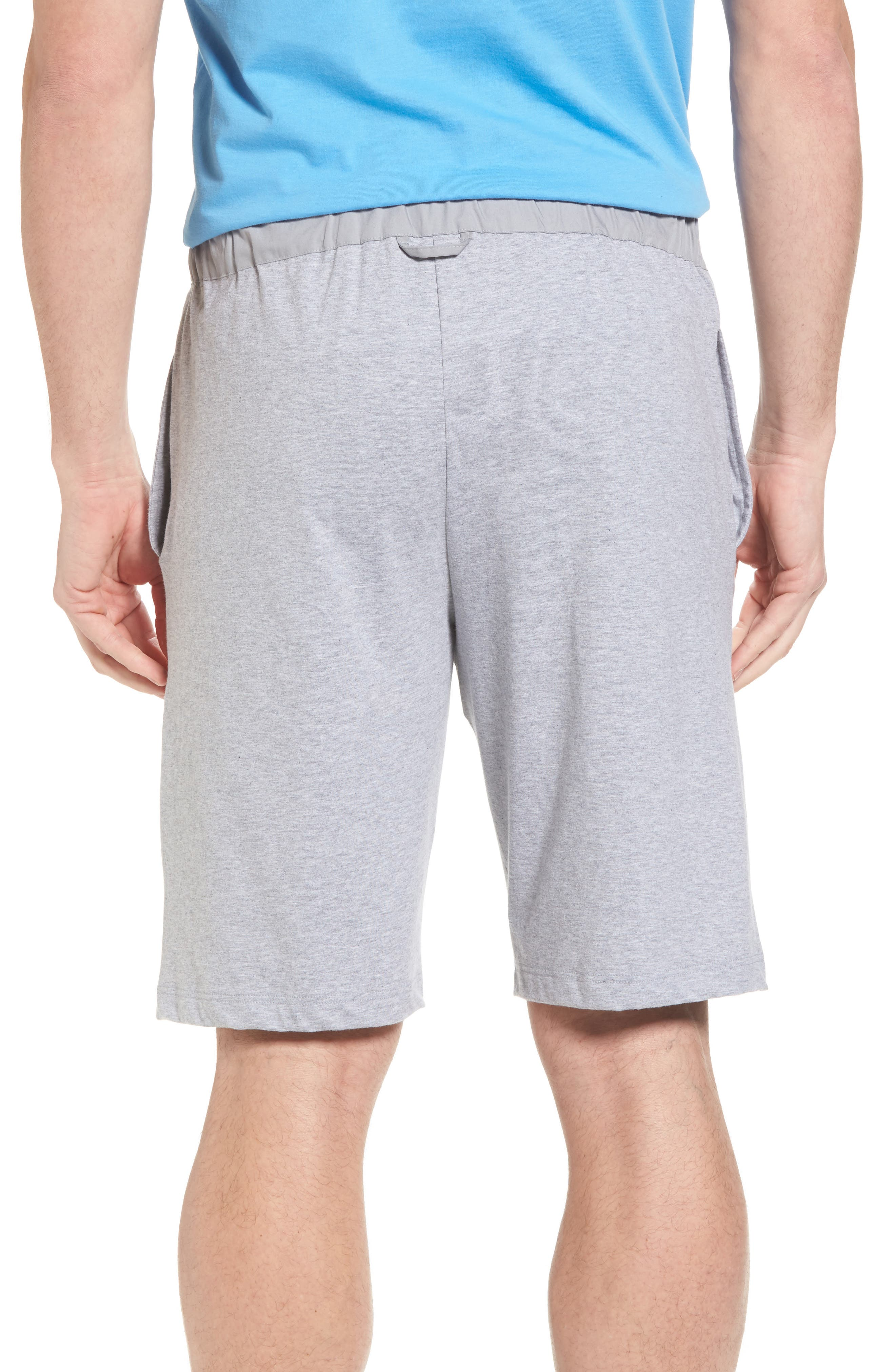 Night & Day Knit Shorts,                             Alternate thumbnail 2, color,                             Silver Melange