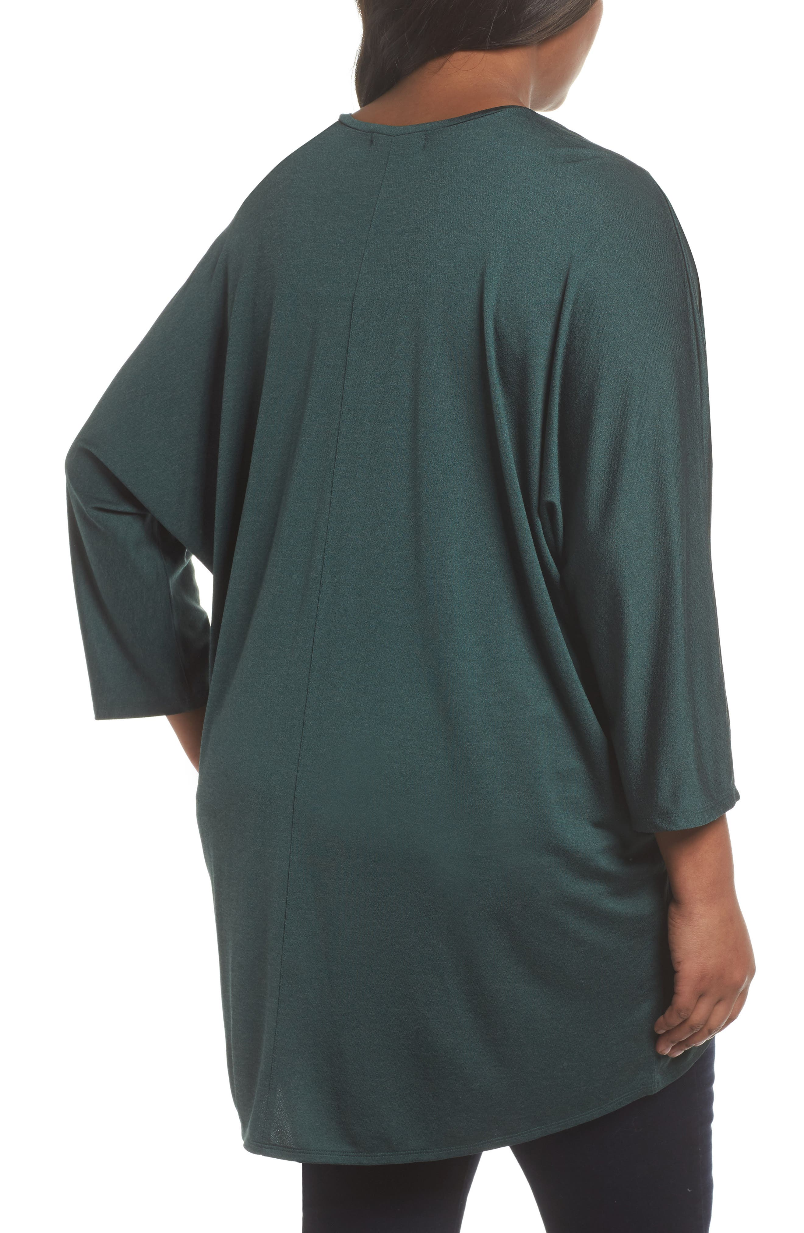 Cocoon Cardigan,                             Alternate thumbnail 2, color,                             Green Bug