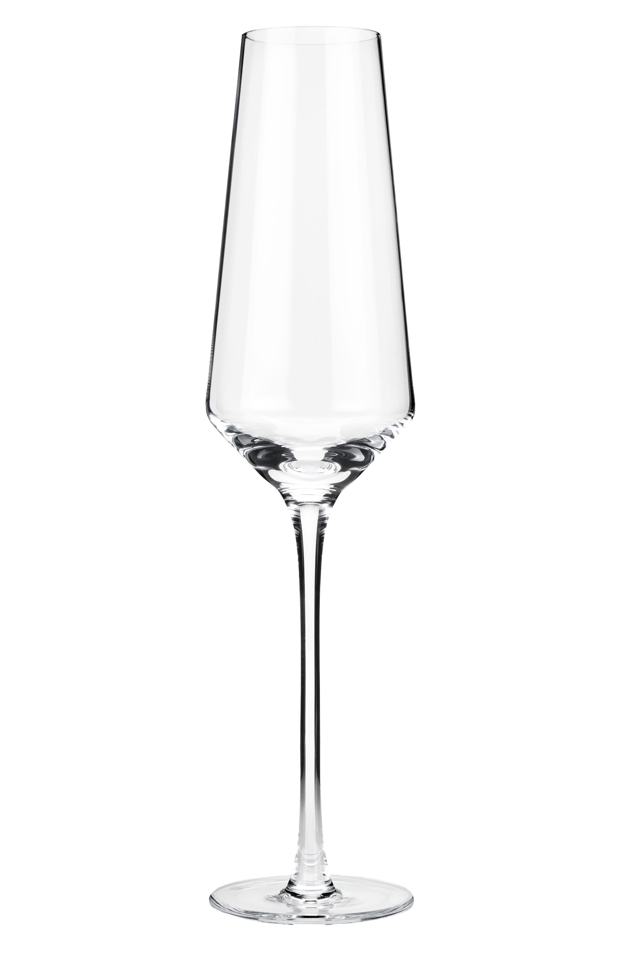 Raye Set of 2 Crystal Champagne Flutes,                             Main thumbnail 1, color,                             Clear