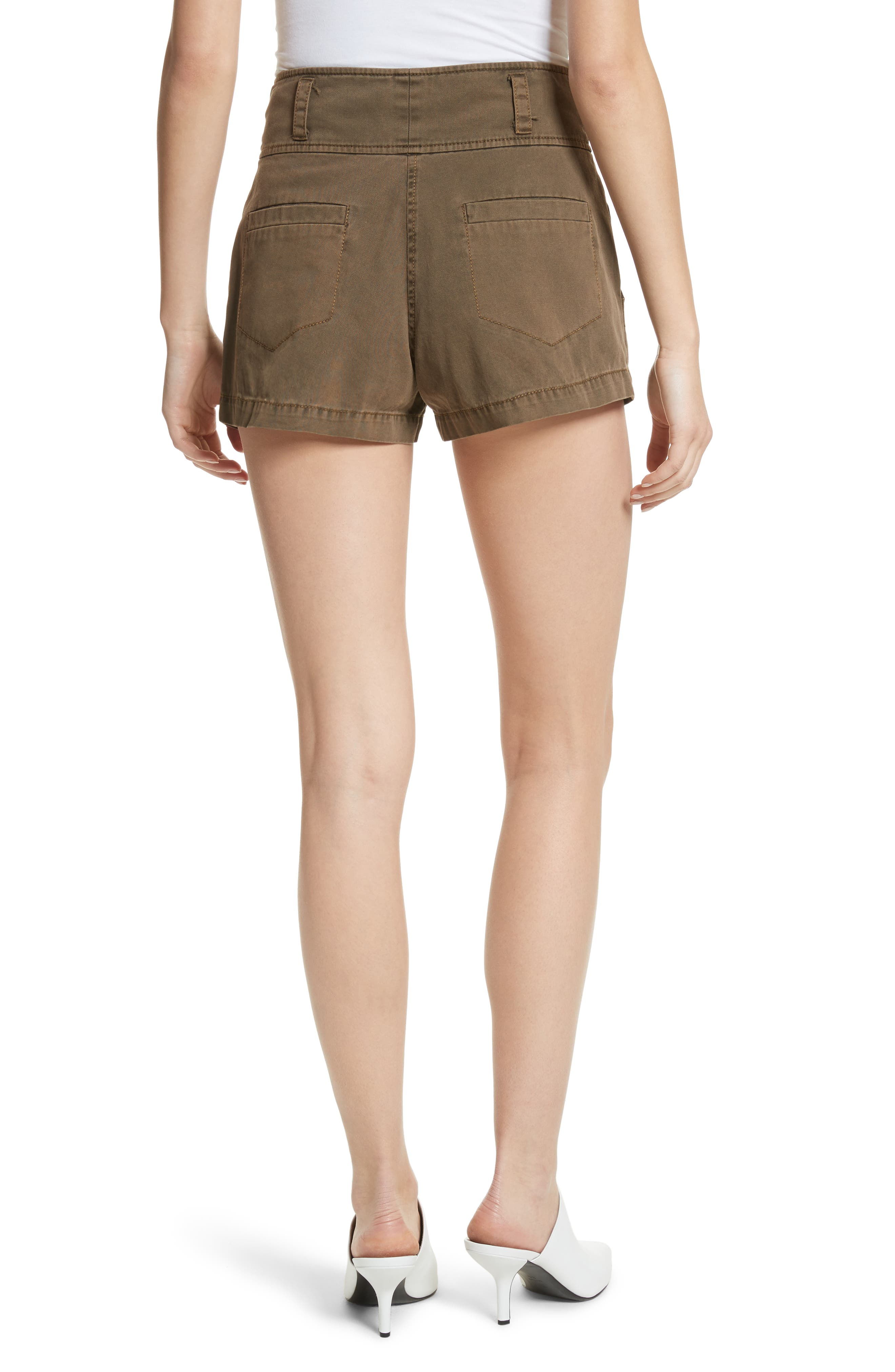 Tour Les Jour Shiloh Shorts,                             Alternate thumbnail 2, color,                             Olive/ Amber