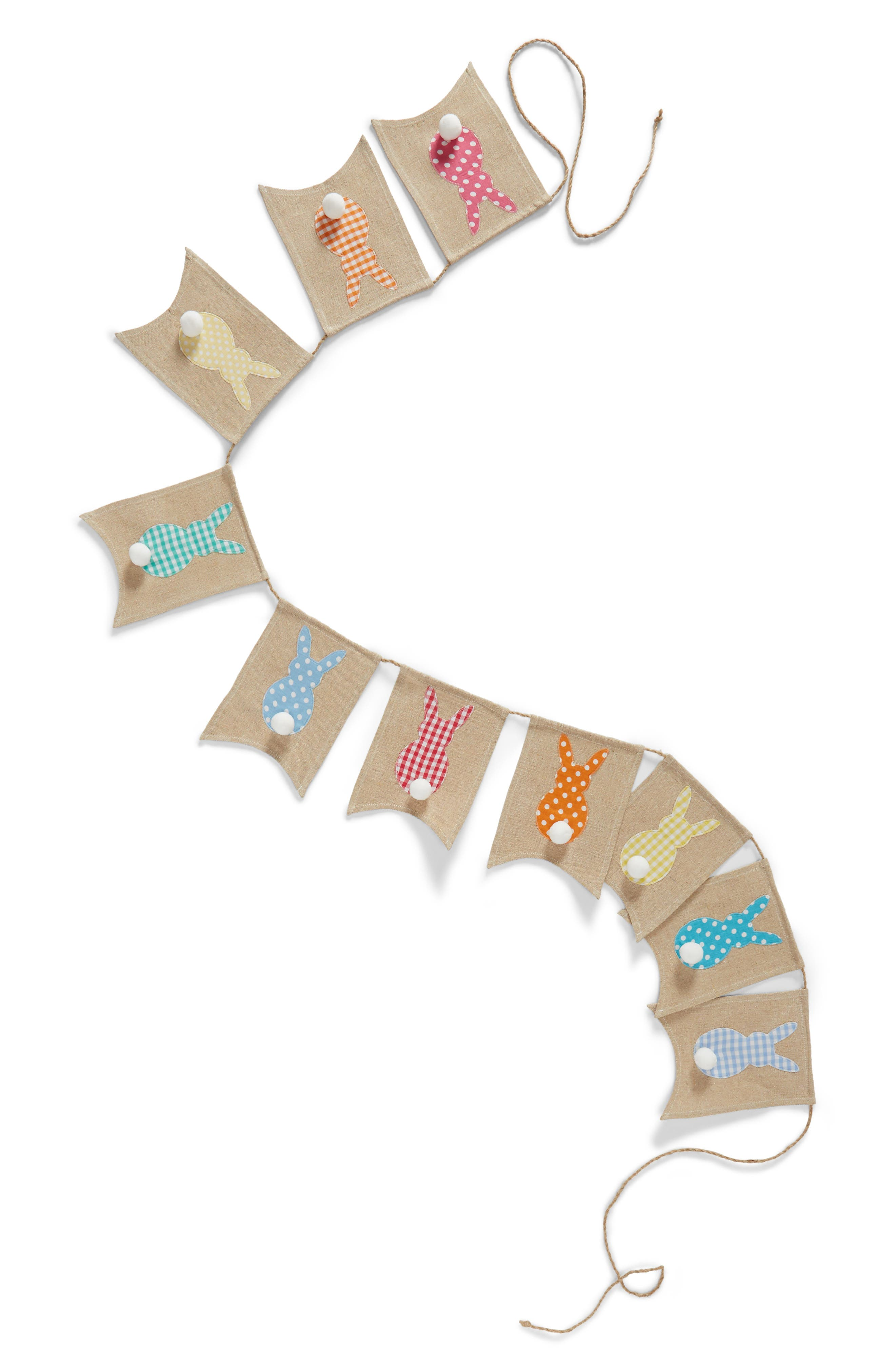 Bunny Silhouette Banner,                         Main,                         color, Taupe