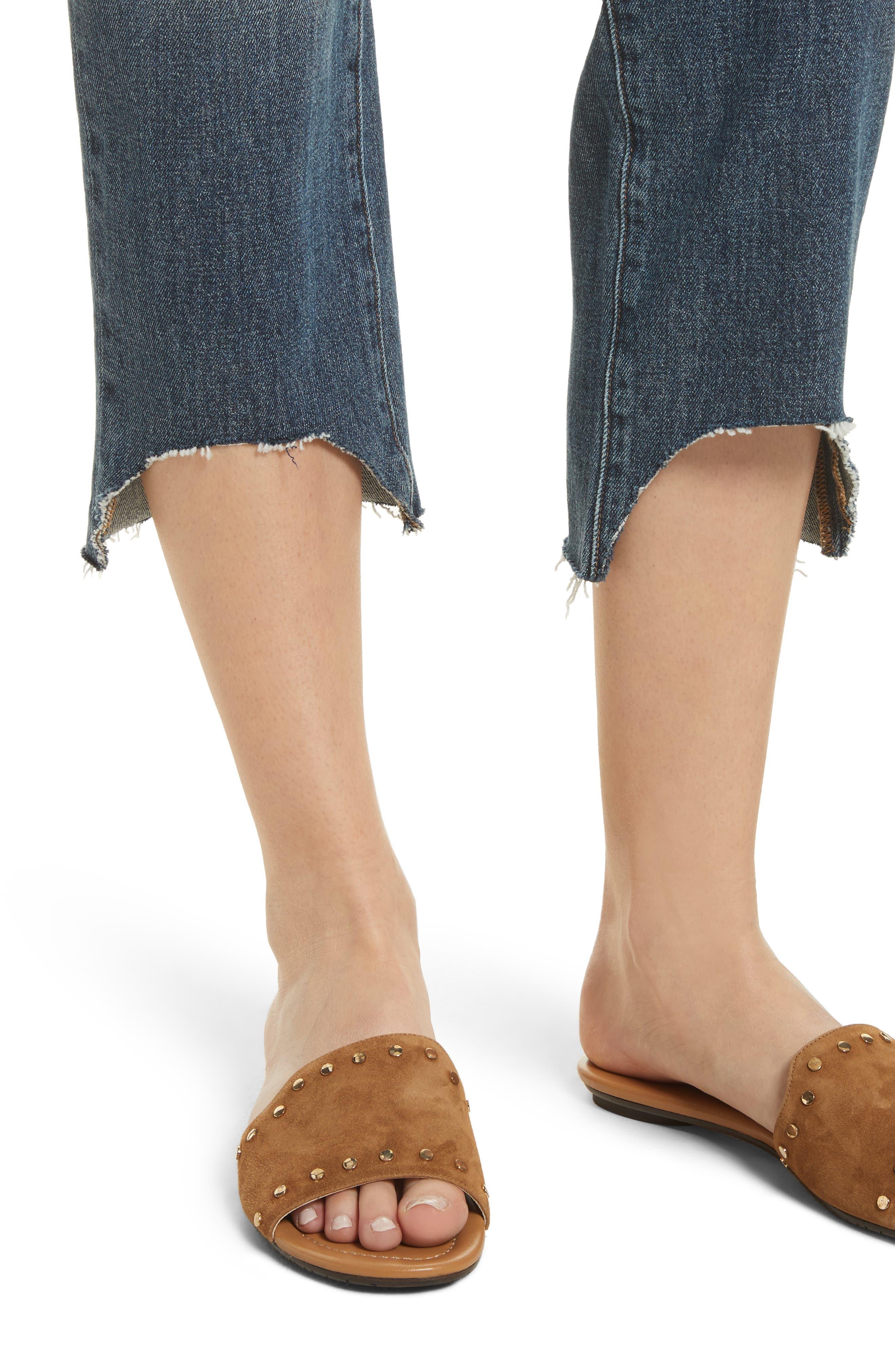 Le Nouveau Scoop Hem Ankle Straight Leg Jeans,                             Alternate thumbnail 4, color,                             Candover