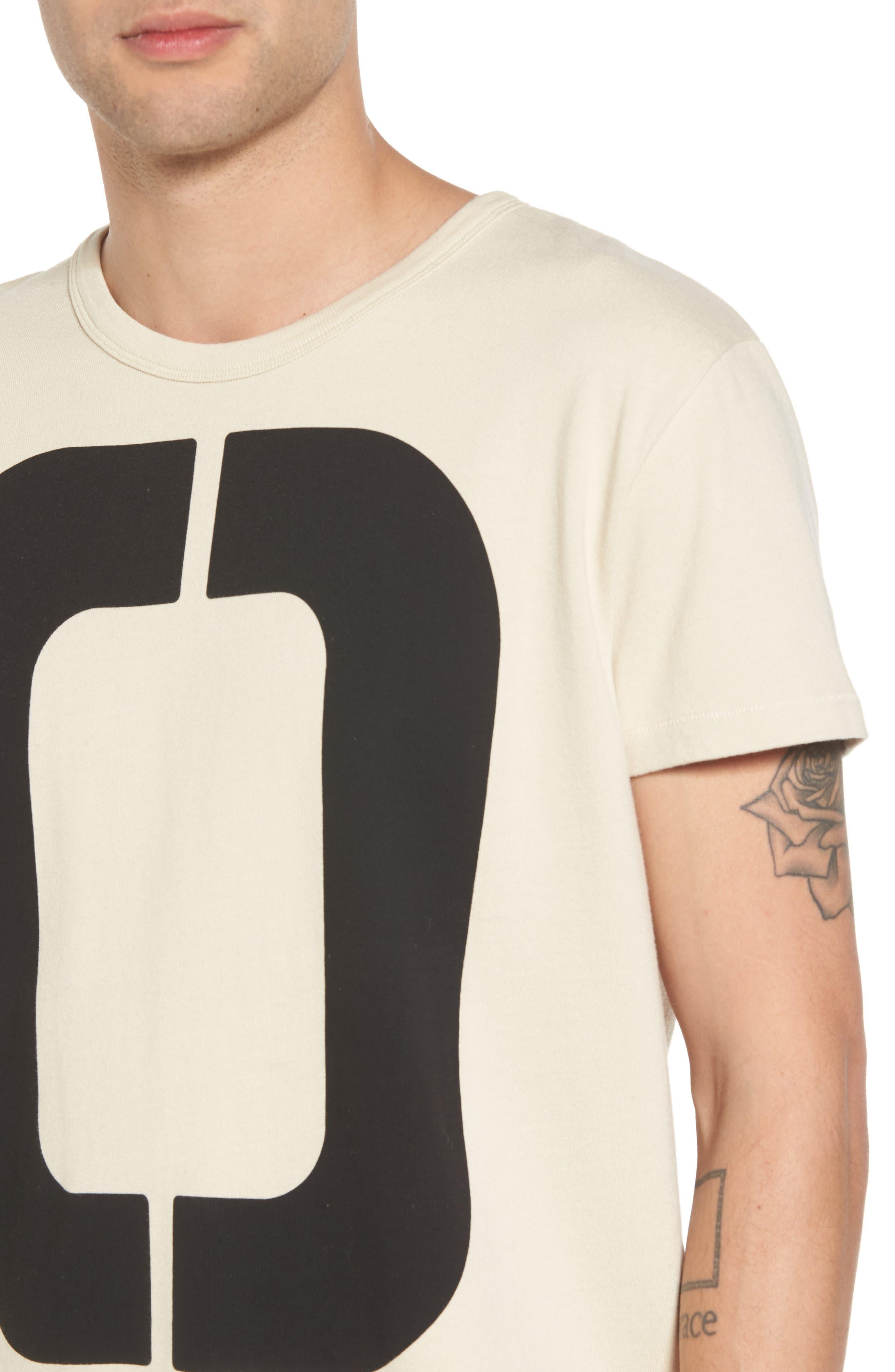 1960s Loose Graphic T-Shirt,                             Alternate thumbnail 4, color,                             Zero Sand Shell