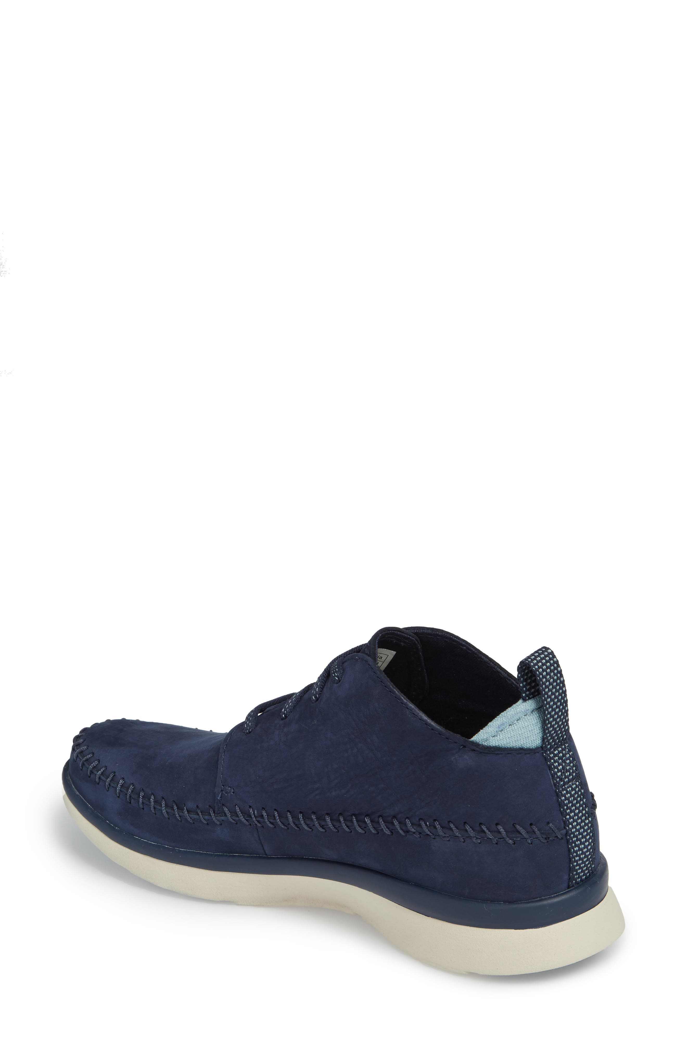 Olympia Lace-Up Sneaker,                             Alternate thumbnail 2, color,                             Blue Nubuck
