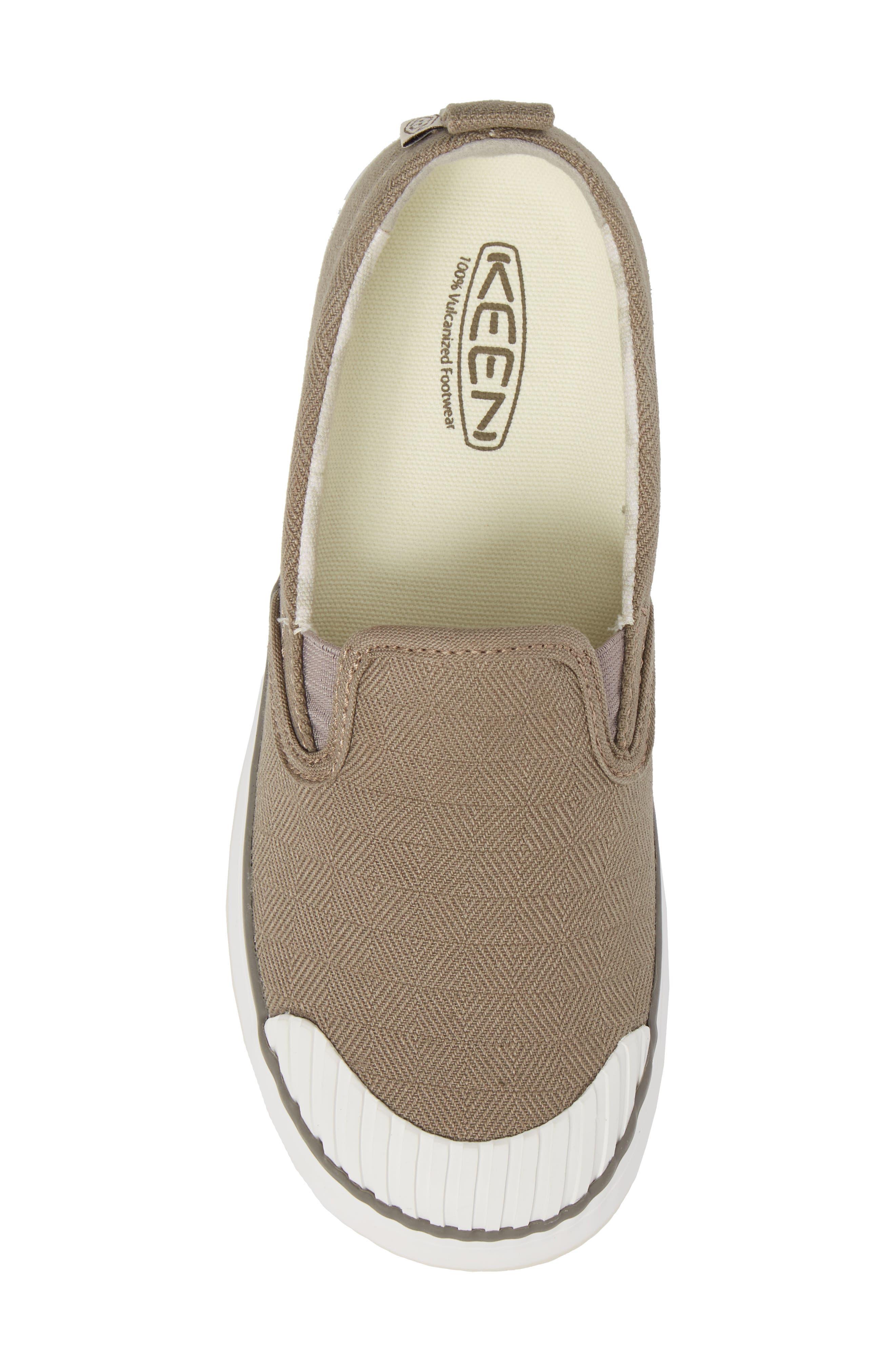 Elsa Slip-On Sneaker,                             Alternate thumbnail 5, color,                             Brindle