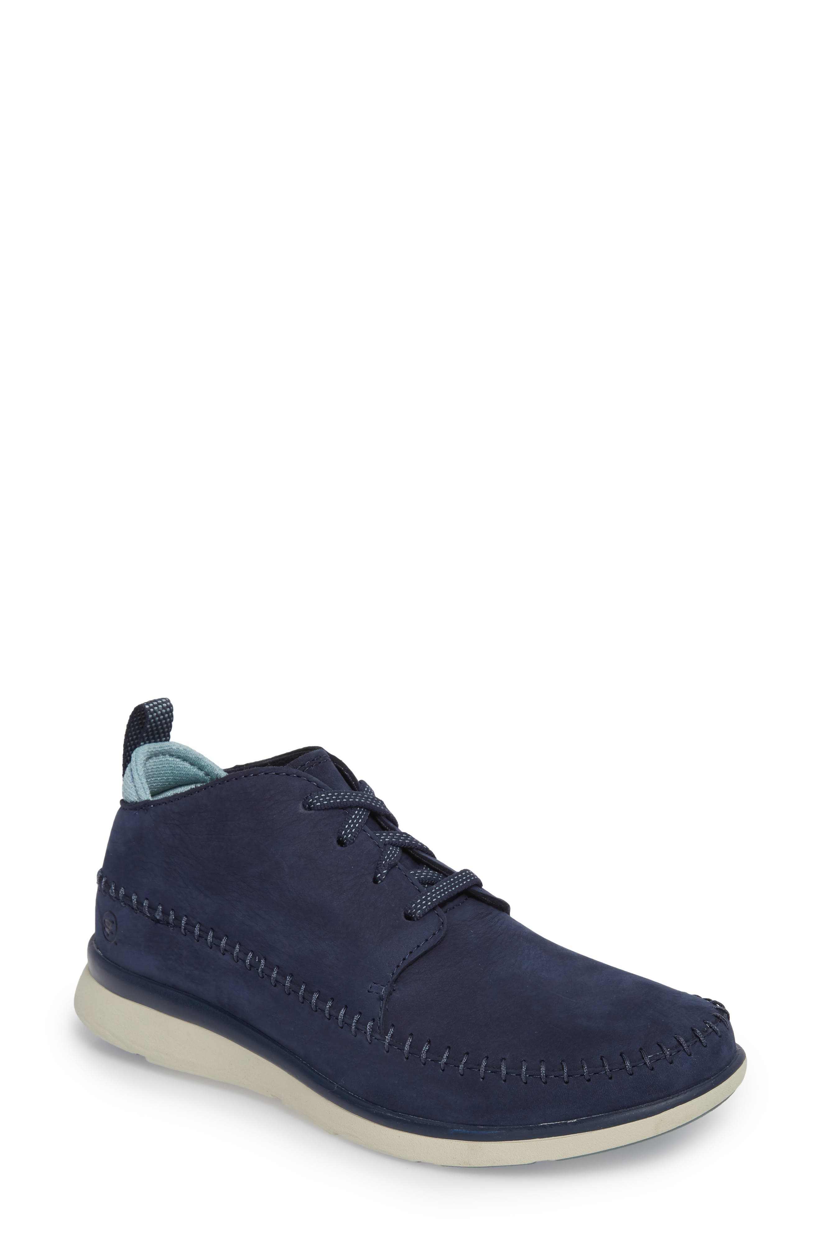 Olympia Lace-Up Sneaker,                             Main thumbnail 1, color,                             Blue Nubuck