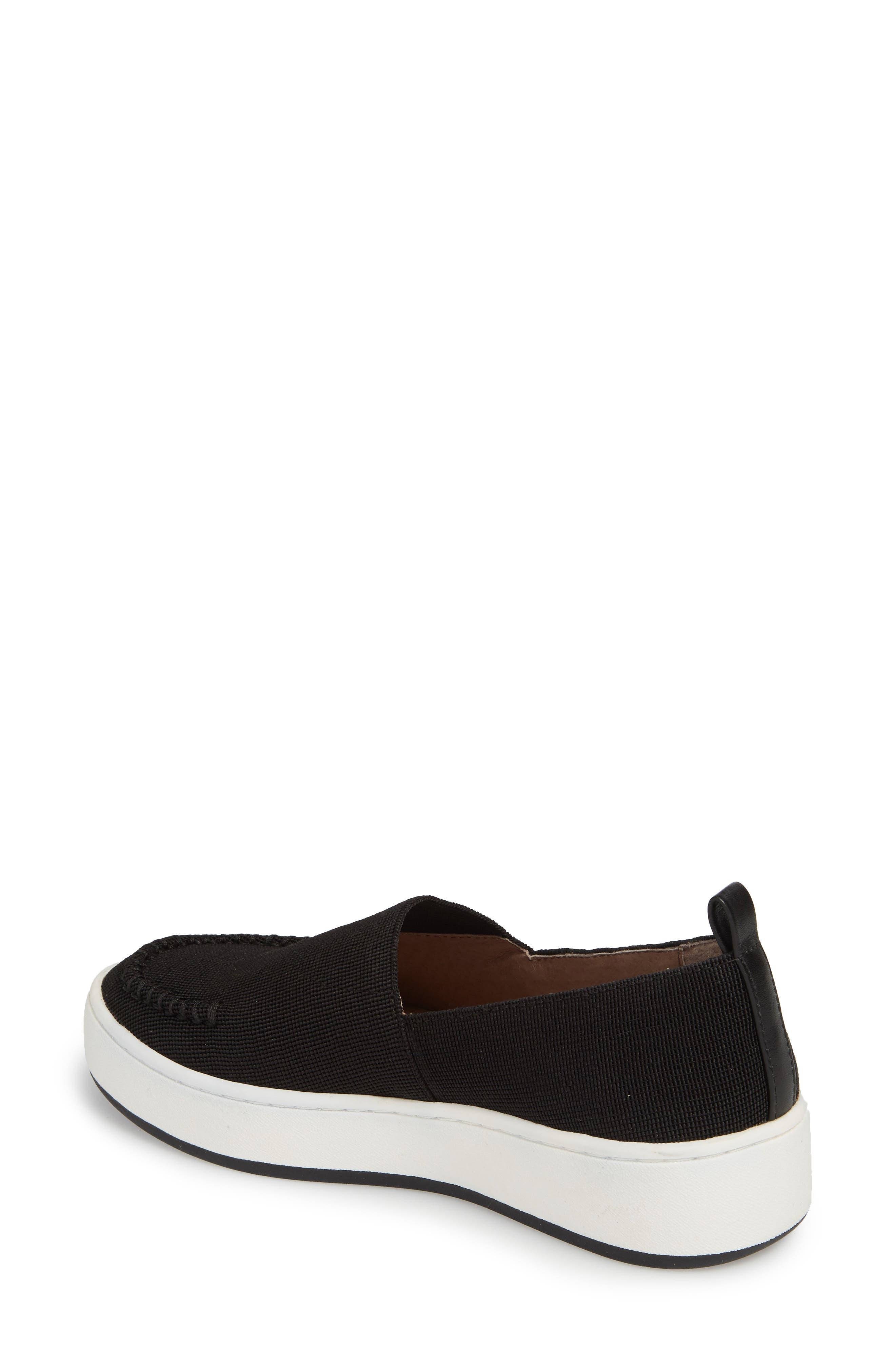 Cory Slip-On Sneaker,                             Alternate thumbnail 2, color,                             Black Elastic Fabric