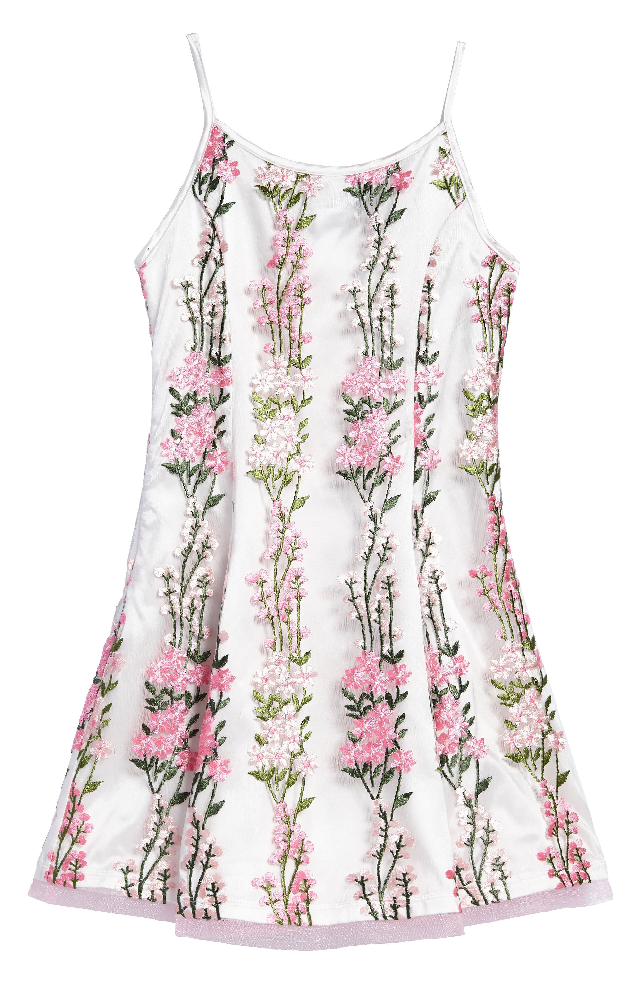 Floral Embroidered Dress,                             Alternate thumbnail 2, color,                             Pink