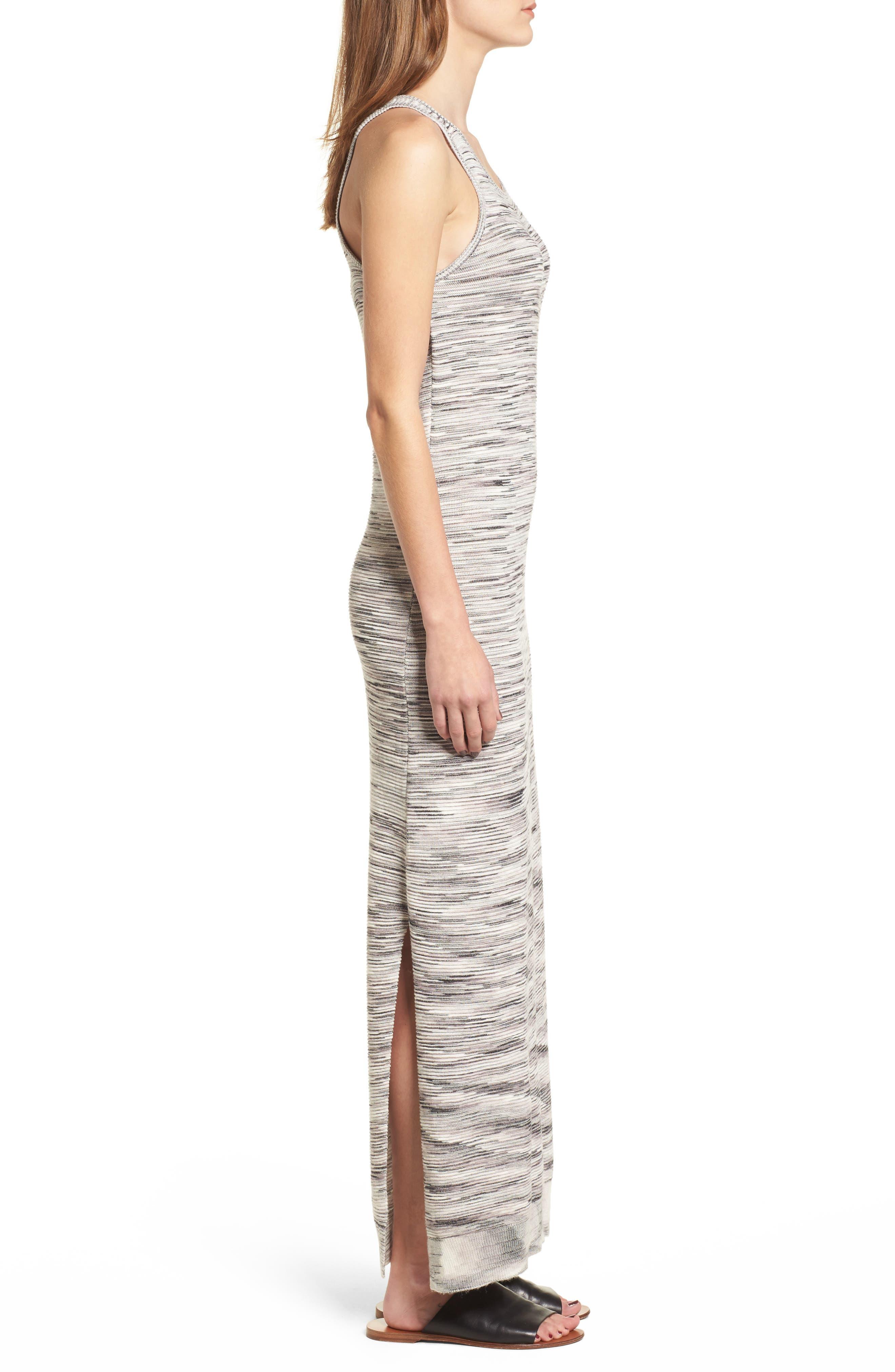 Space Dye Knit Maxi Dress,                             Alternate thumbnail 4, color,                             Natural Multi