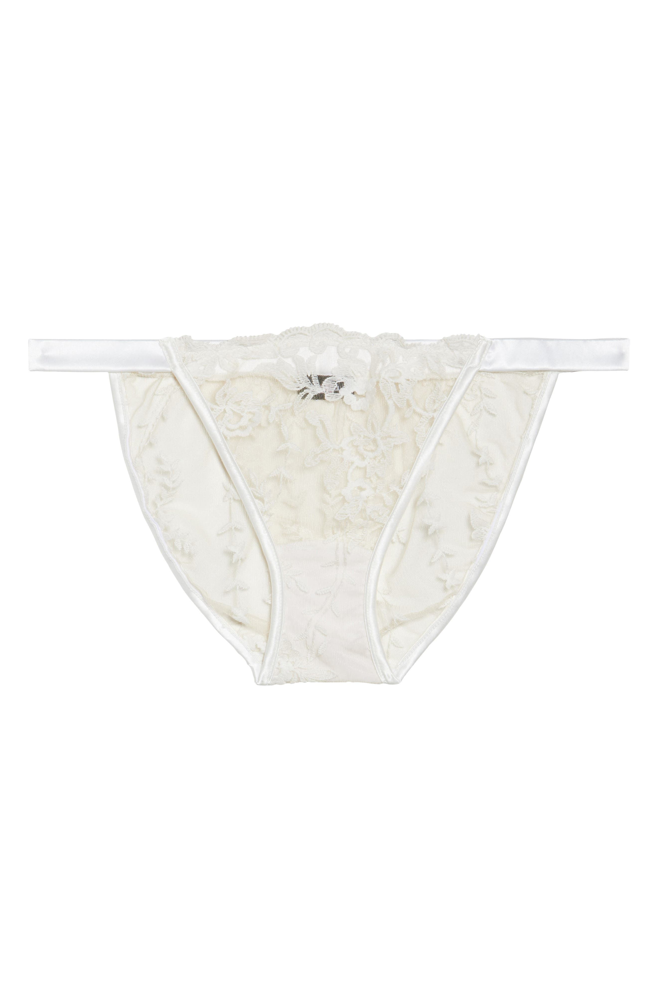 Rosie String Bikini,                             Alternate thumbnail 4, color,                             Moon Ivory